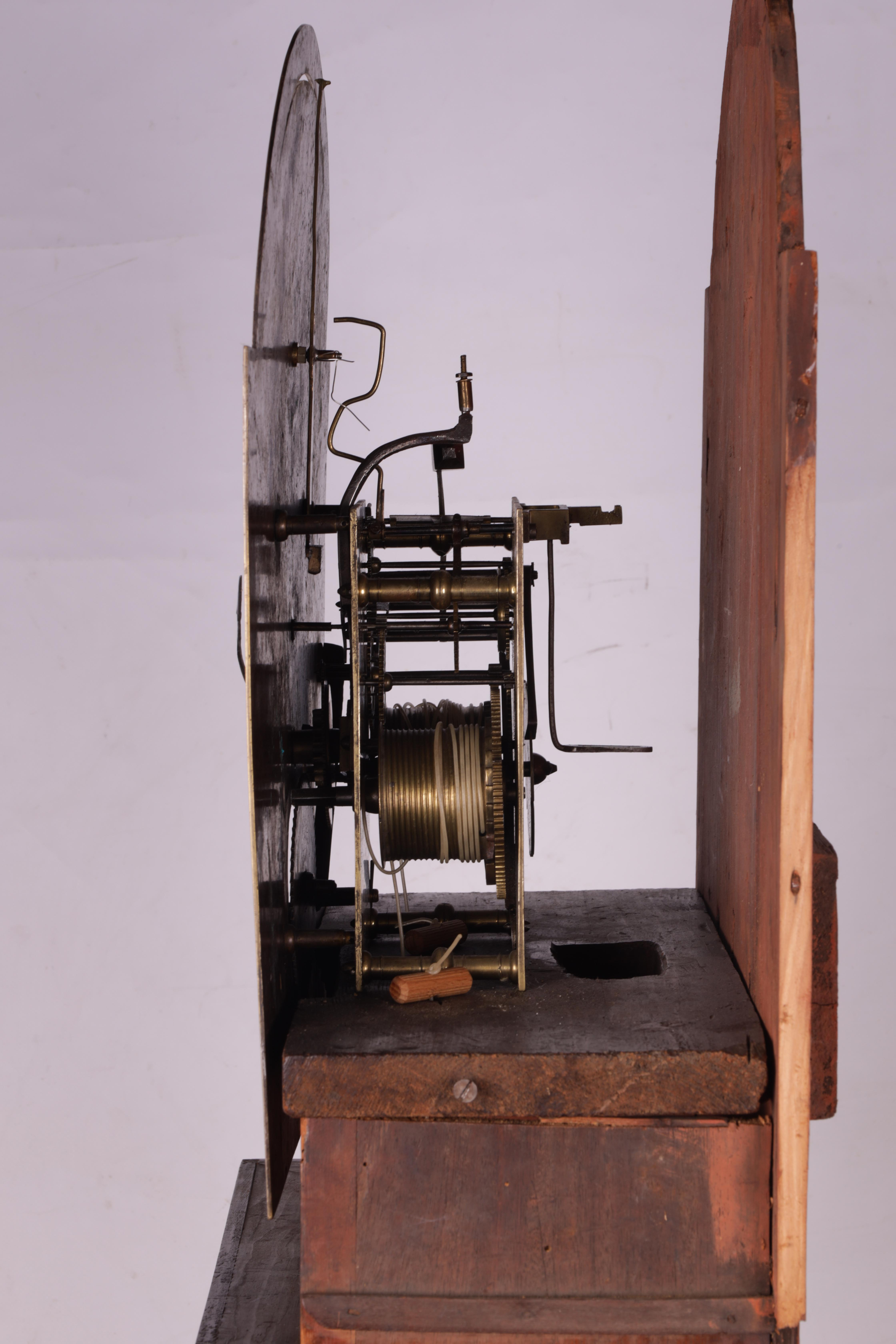 "THOMAS OLIVER MARTOCK A LATE 18TH CENTURY MAHOGANY 8-DAY AUTOMATON LONGCASE CLOCK the 12"" silvered - Image 6 of 8"