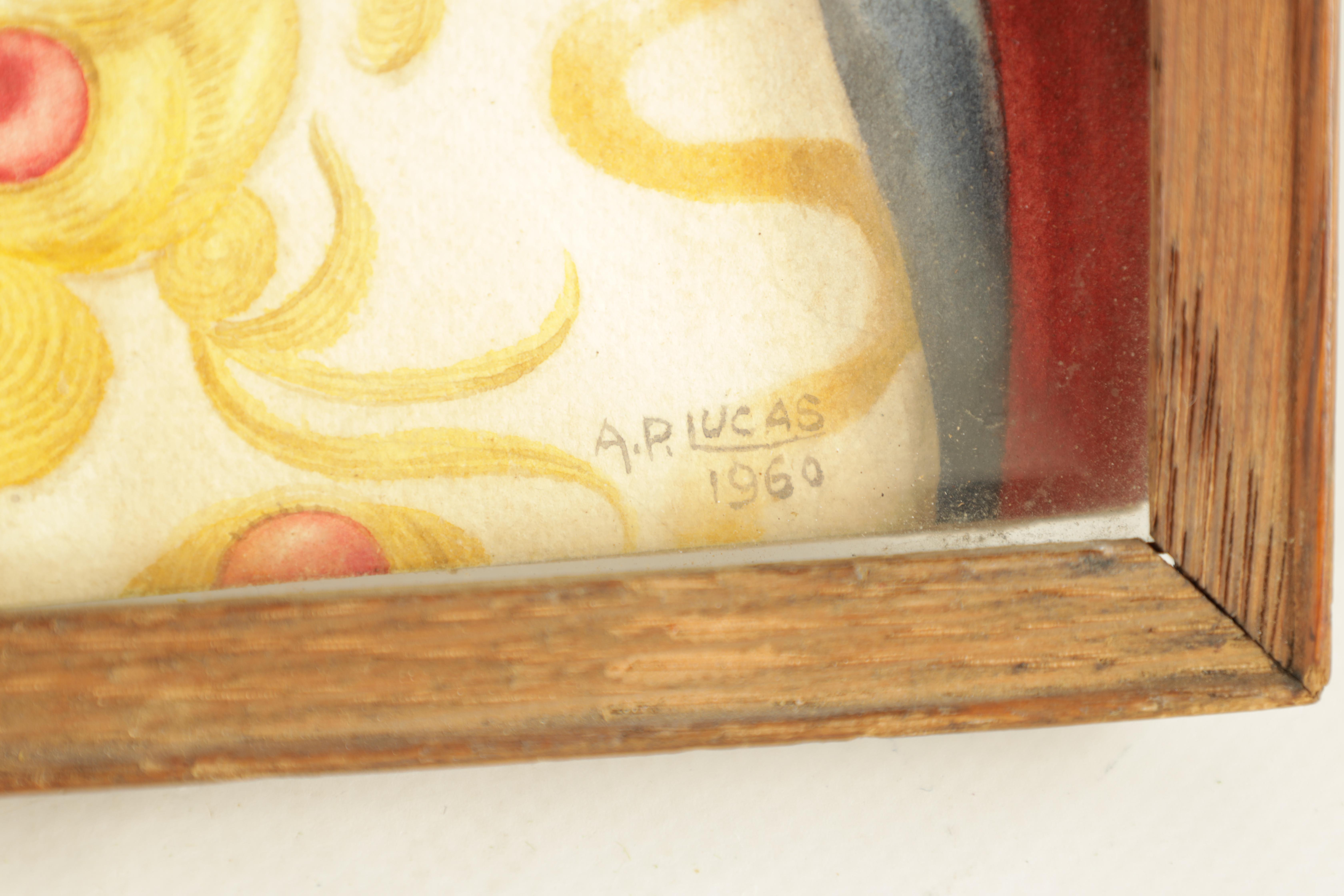 A MID 20TH CENTURY WATERCOLOUR depicting a portrait of a Chinese Dignatory signed by A P Lucas dated - Image 5 of 5