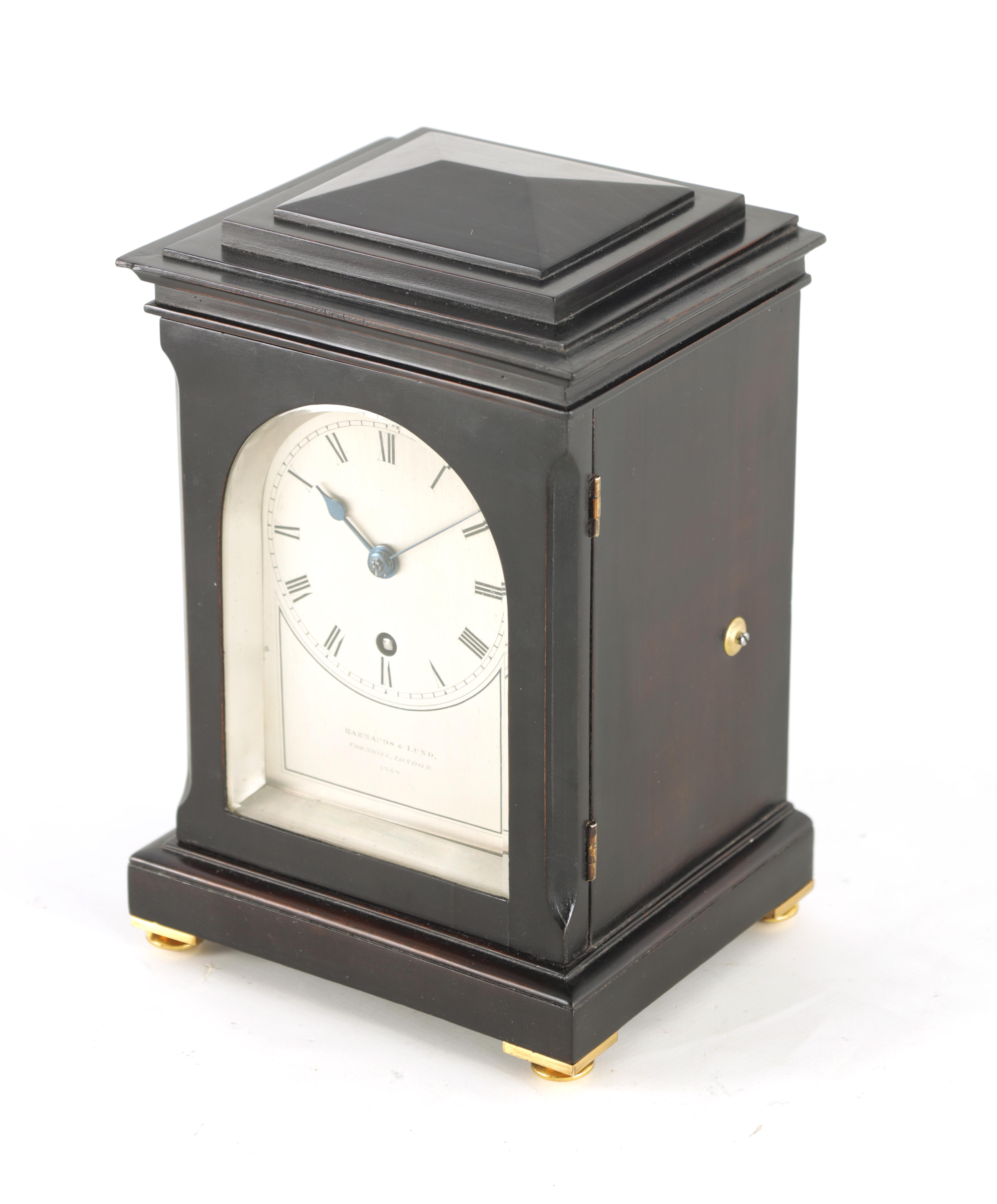 BARRAUDS & LUND, CORNHILL, LONDON. 1549 A FINE EARLY 19TH CENTURY REGENCY EBONISED ENGLISH FUSEE - Image 2 of 8