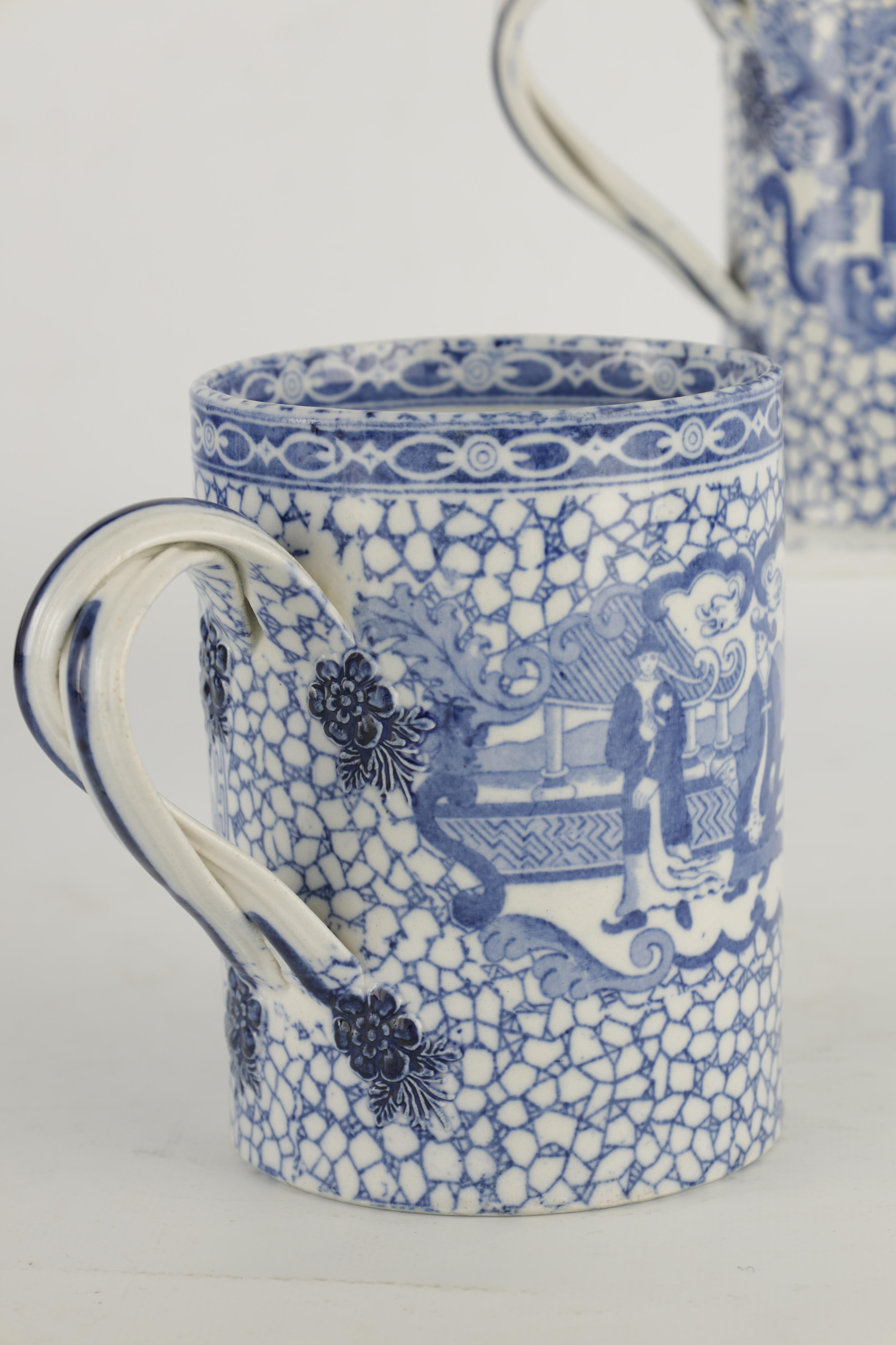 A 19TH CENTURY PEARLWARE JUG WITH RELIEF MOULDED PANELS OF LORD WELLINGTON AND GENERAL HILL on a - Image 15 of 17
