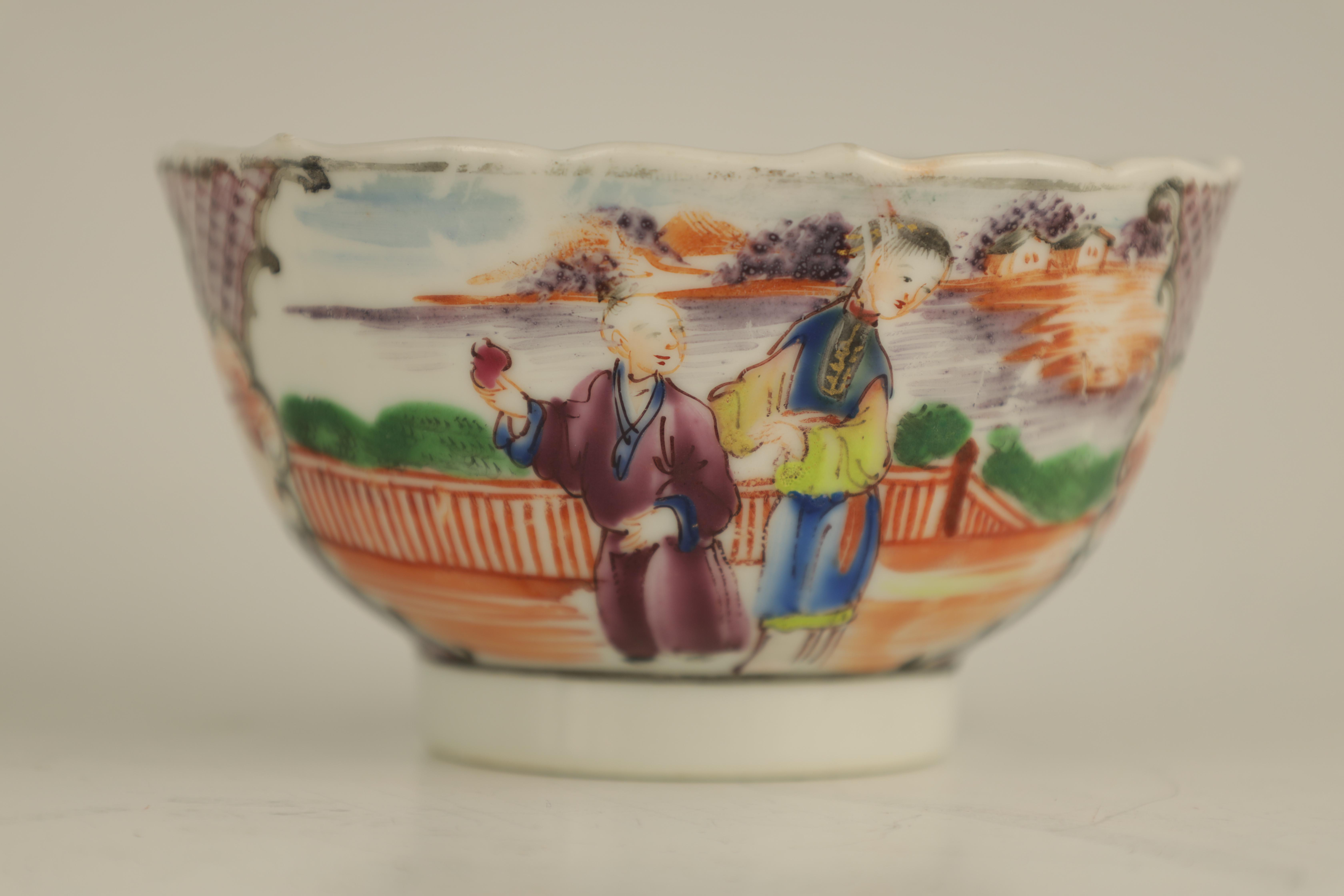 AN EARLY 19TH CENTURY NEW HALL PORCELAIN TEA CUP AND SAUCER decorated in 'The Boy in the Window' - Image 5 of 7