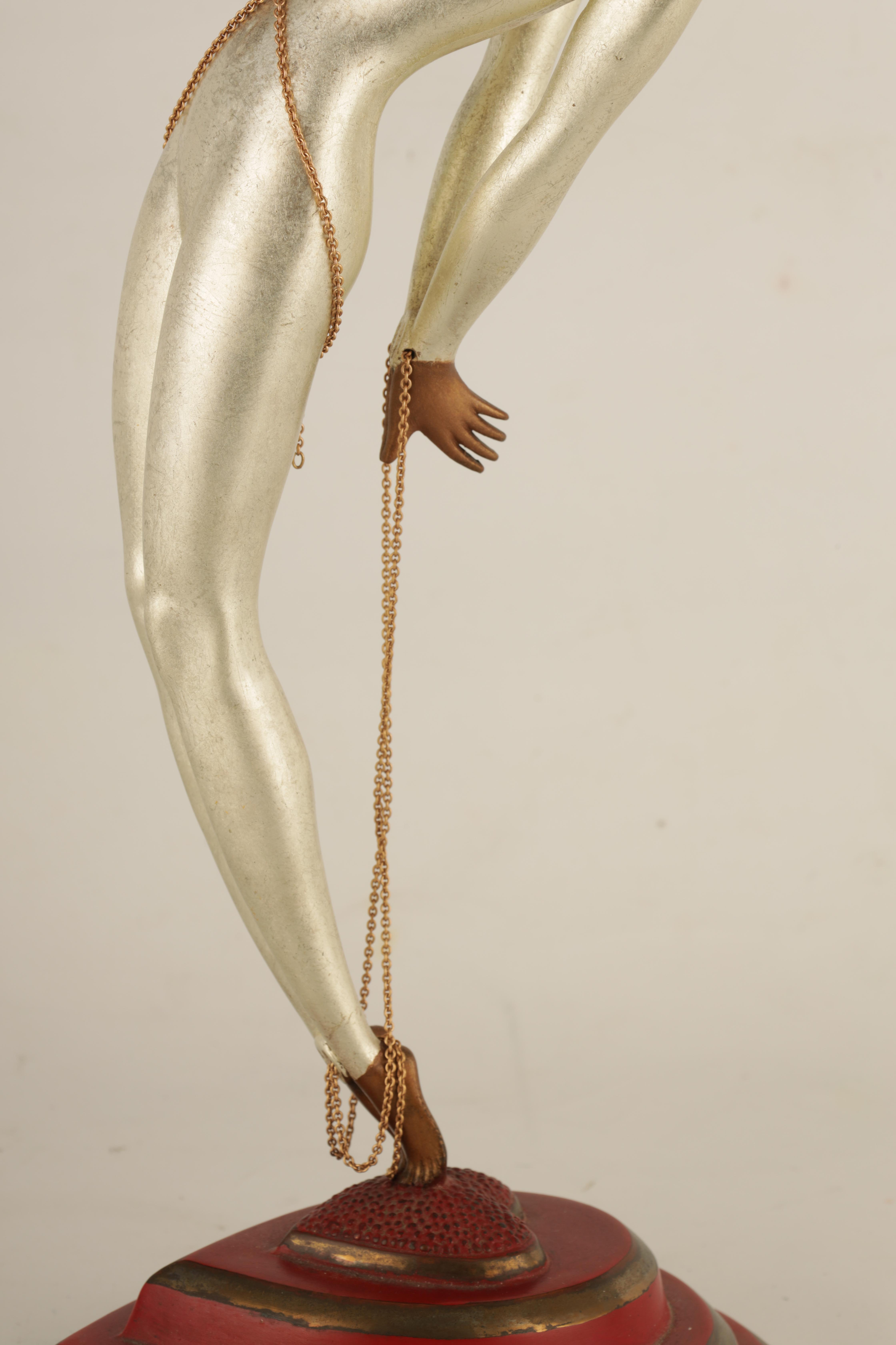 ROMAIN DE TIRTOFF. RUSSIAN 1892-1990. A 20TH CENTURY RUSSIAN LIMITED EDITION COLD PAINTED BRONZE - Image 5 of 11