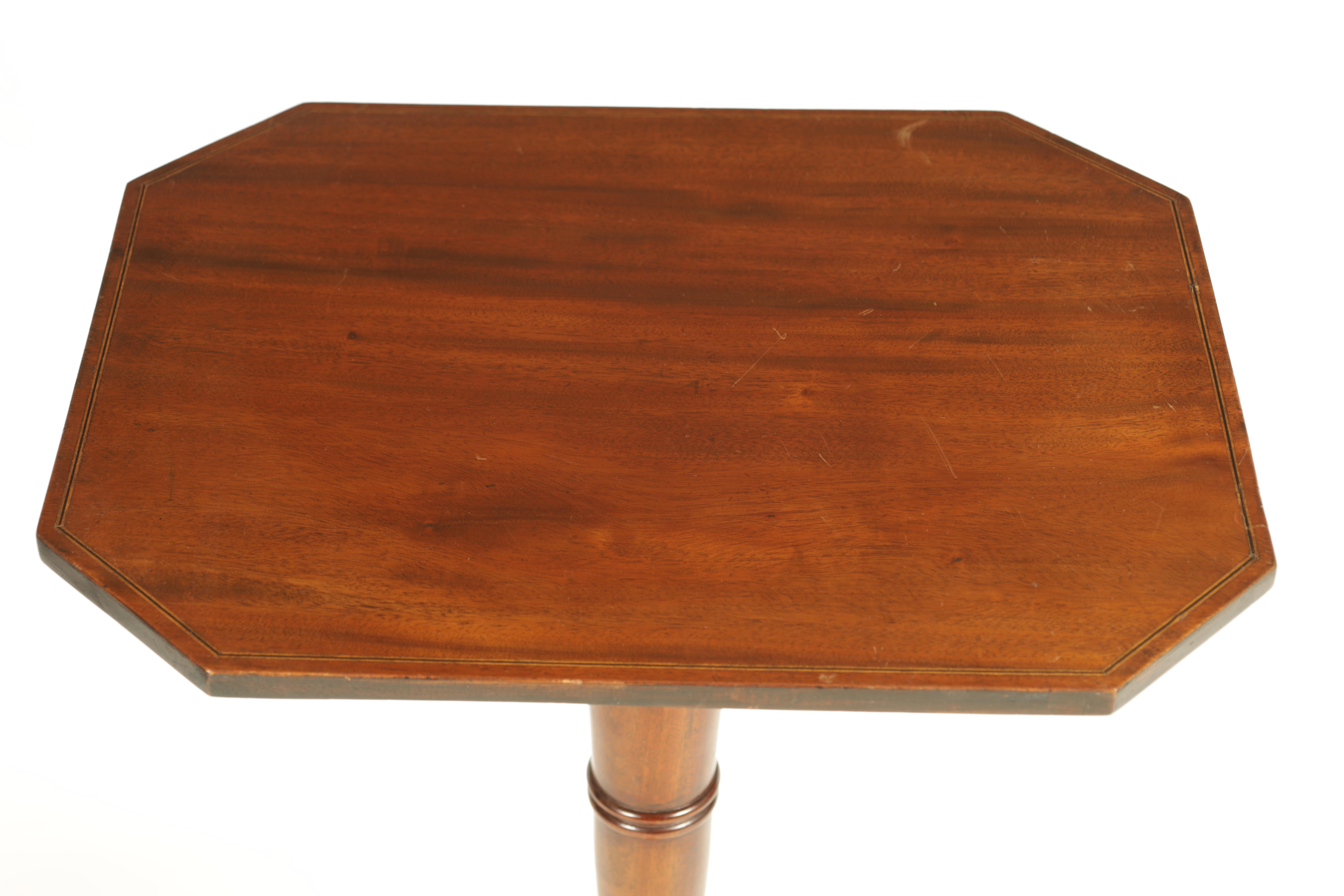 A REGENCY MAHOGANY ADJUSTABLE OCCASIONAL/READING TABLE with clipped corners and tilting top, - Image 3 of 9