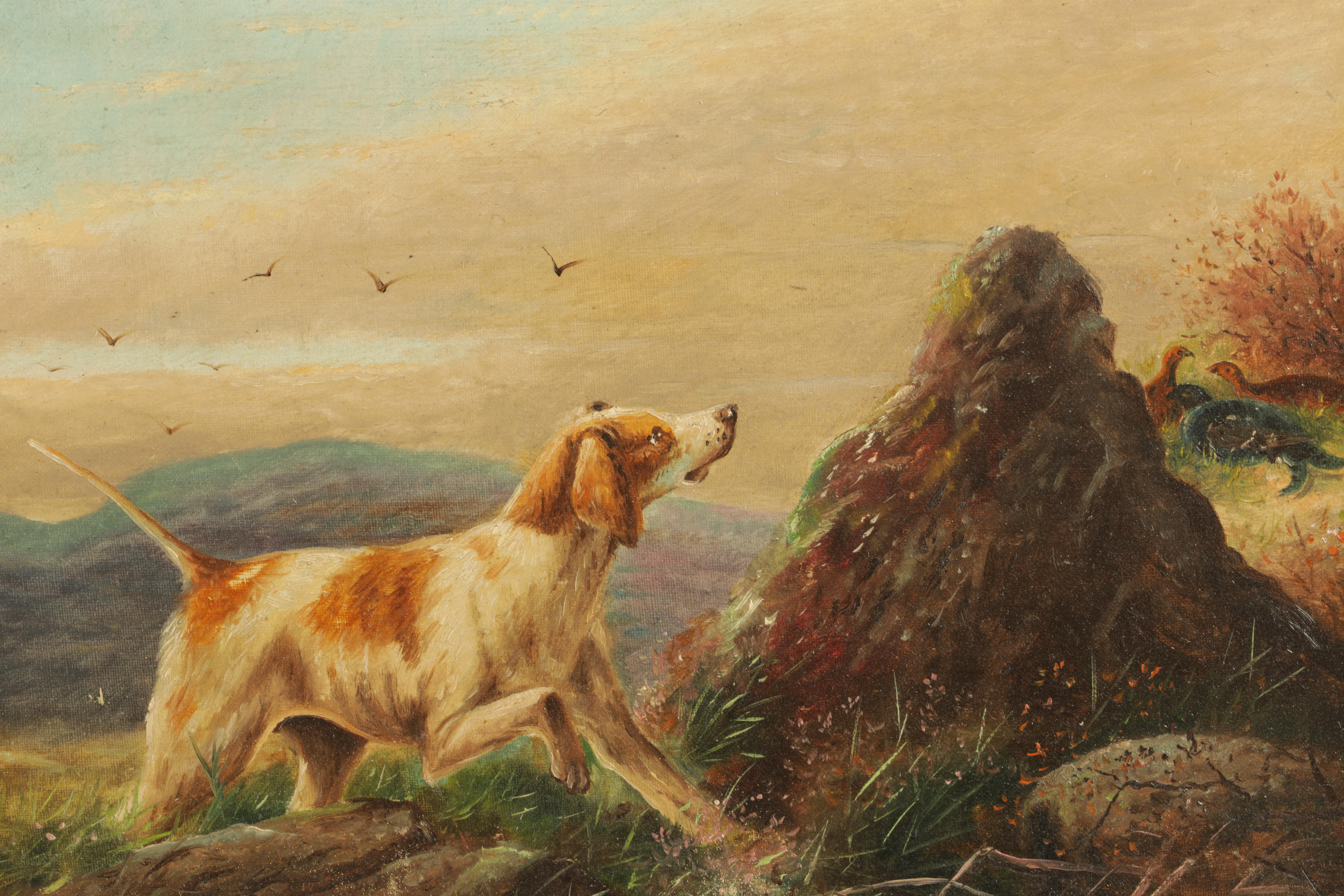 JAMES PRICE A PAIR OF EARLY 20TH CENTURY OILS ON CANVAS titled and signed on reverse 'Spaniel and - Image 2 of 4