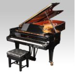 STEINWAY & SONS AN EBONISED MODEL D CONCERT GRAND PIANOFORTE, serial number 444581, with