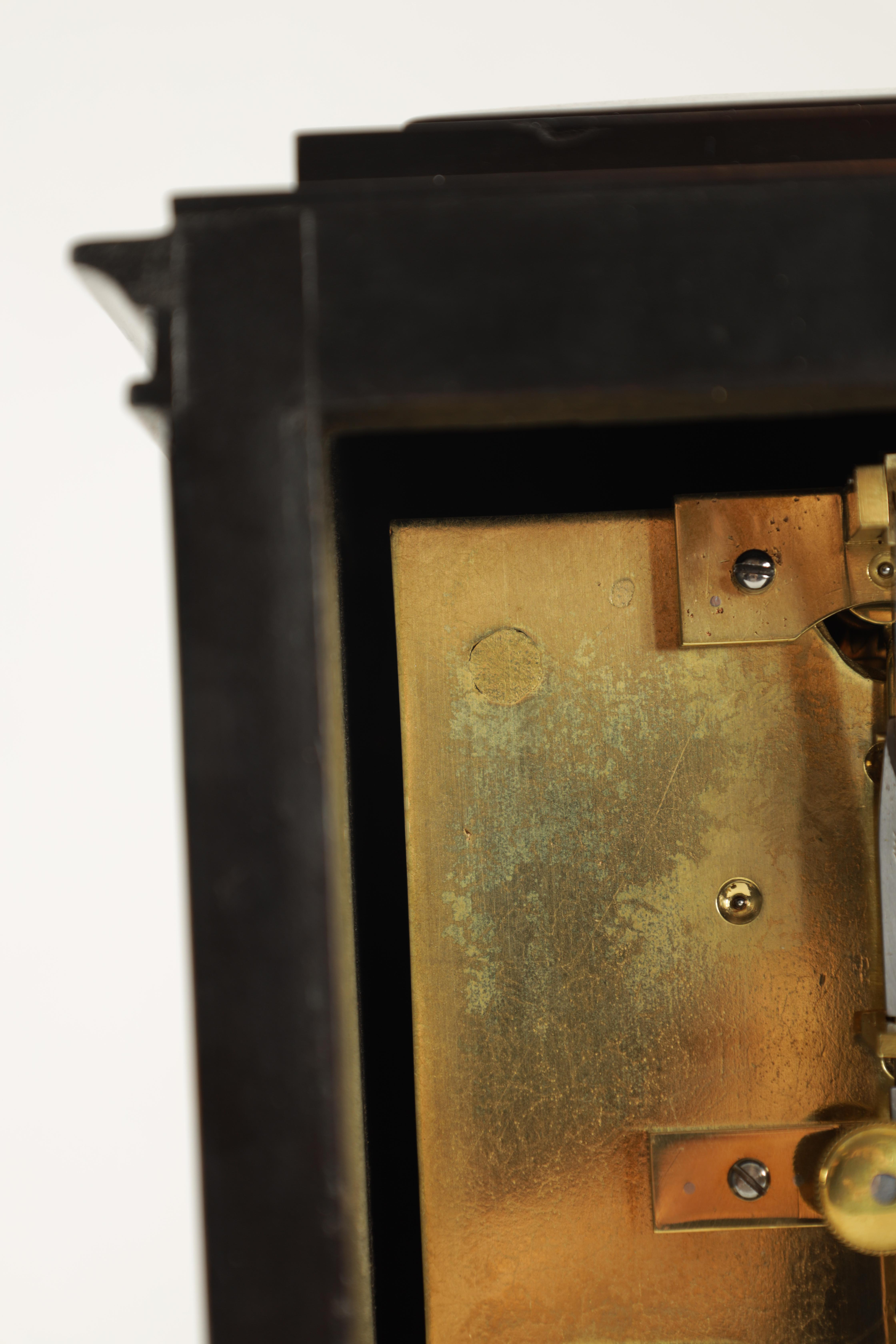 BARRAUDS & LUND, CORNHILL, LONDON. 1549 A FINE EARLY 19TH CENTURY REGENCY EBONISED ENGLISH FUSEE - Image 7 of 8