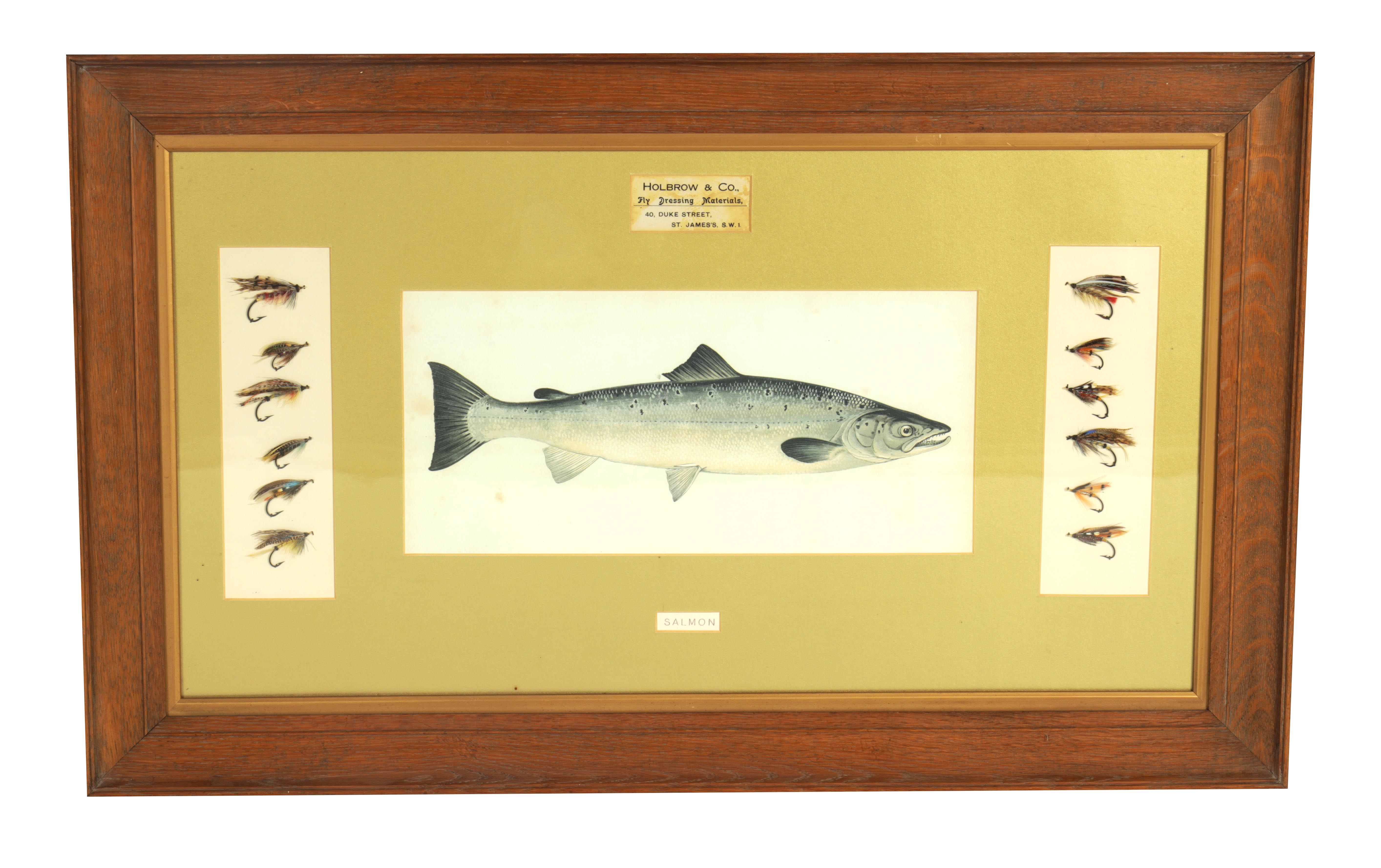 AN EDWARDIAN FLY FISHING SHOP DISPLAY FOR SALMON FLIES from Holbrook & Co. Fly Dressing Materials,