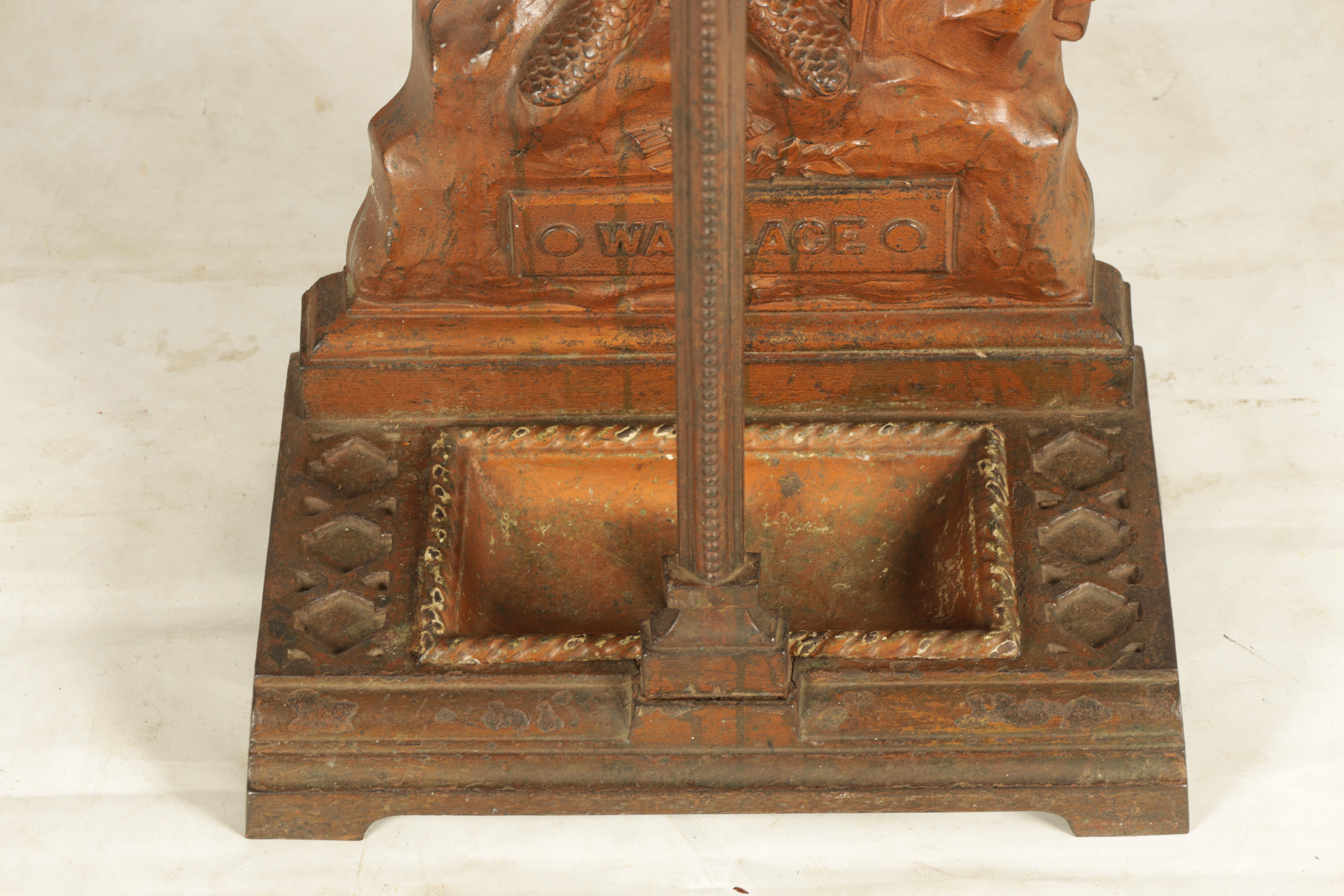 A LATE 19TH CENTURY PAINTED CAST IRON COALBROOKEDALE STYLE STICK STAND DEPICTING WILLIAM WALLACE - Image 3 of 5