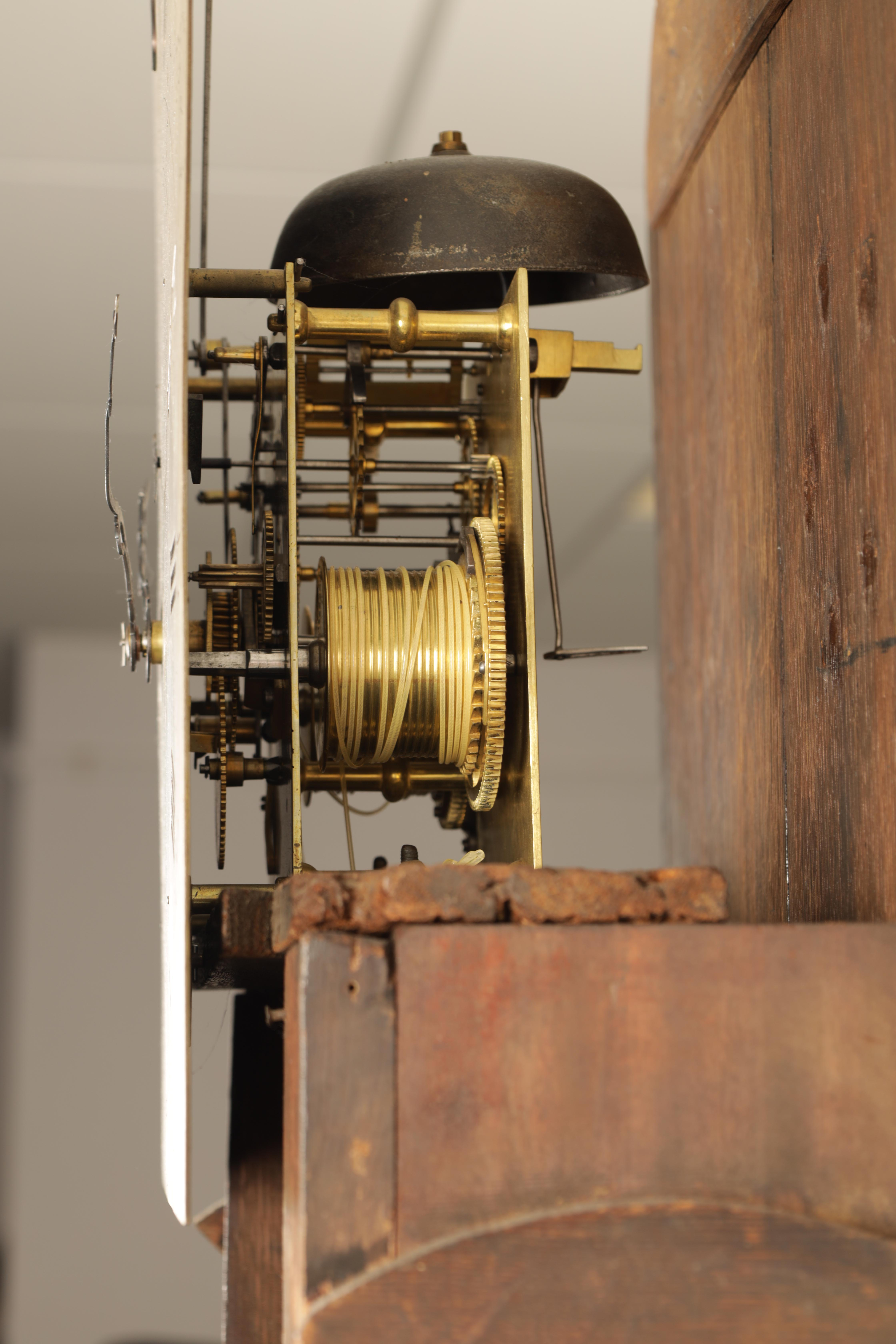 THOMAS RUSSELL, LONDON A GEORGE III FIGURED MAHOGANY LONGCASE CLOCK the arched moulded hood above - Image 4 of 5