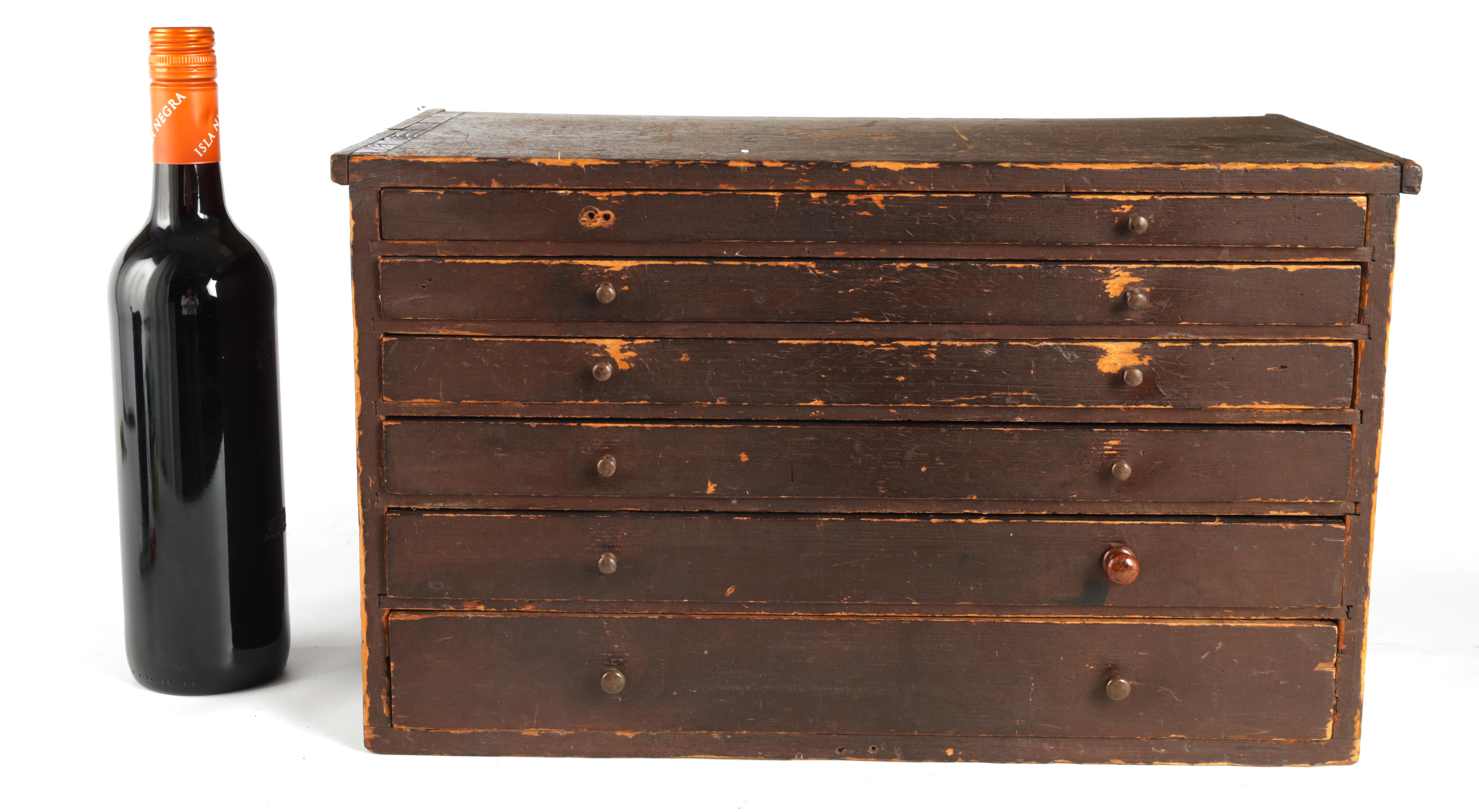 A LARGE COLLECTION OF JEWELERS AND WATCHMAKERS TOOLS contained in a set of pine drawers - Image 3 of 12