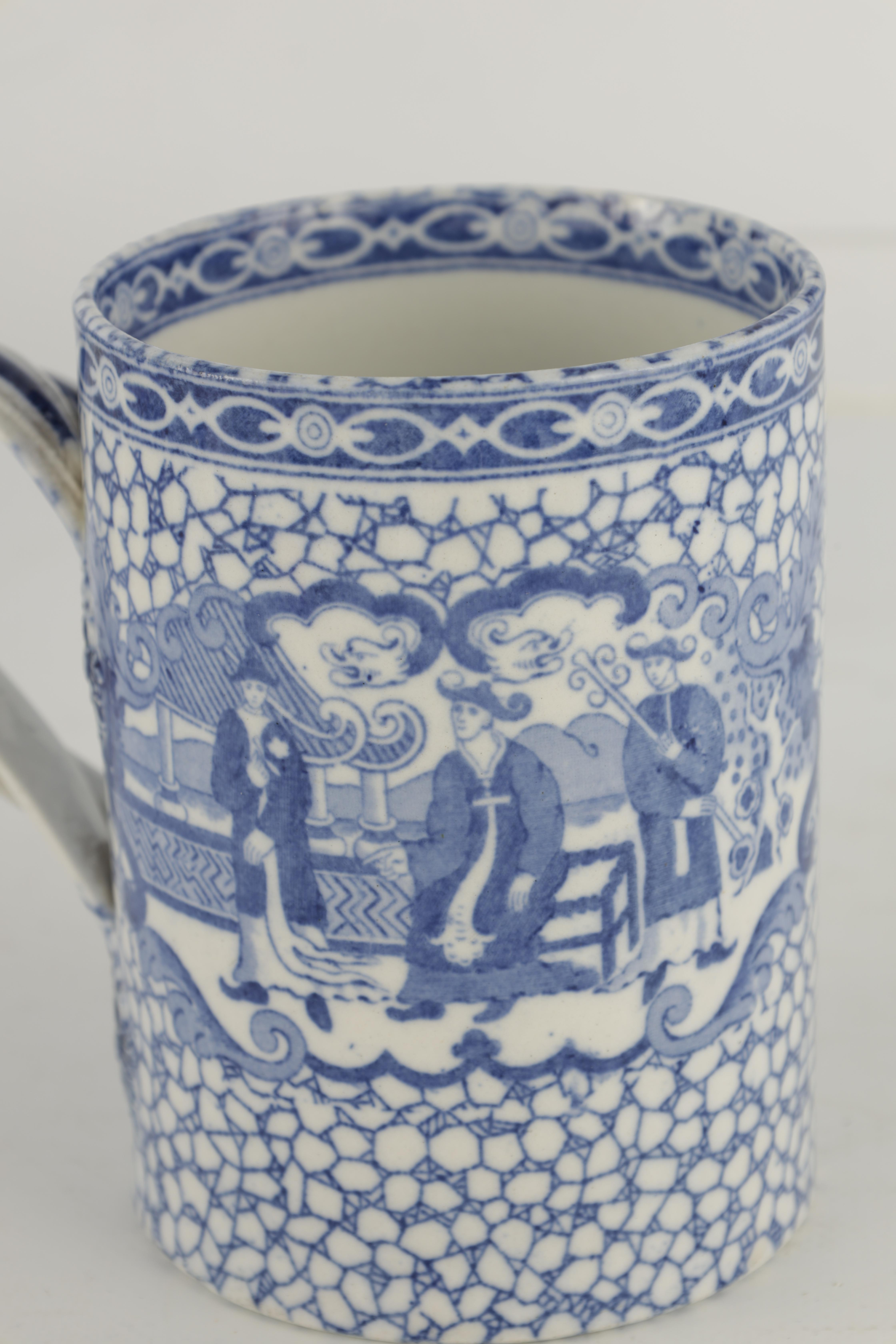 A 19TH CENTURY PEARLWARE JUG WITH RELIEF MOULDED PANELS OF LORD WELLINGTON AND GENERAL HILL on a - Image 16 of 17