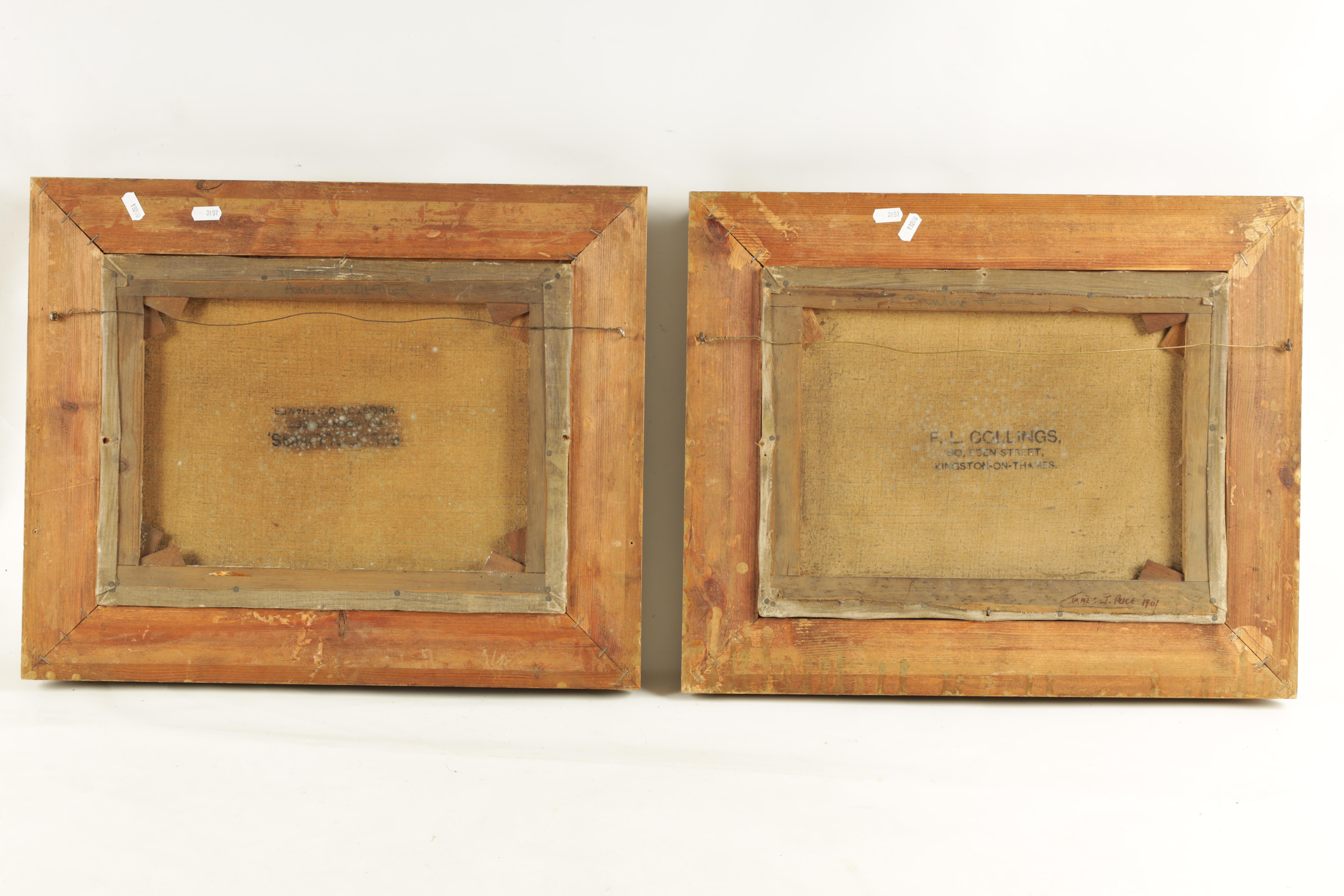 JAMES PRICE A PAIR OF EARLY 20TH CENTURY OILS ON CANVAS titled and signed on reverse 'Spaniel and - Image 4 of 4
