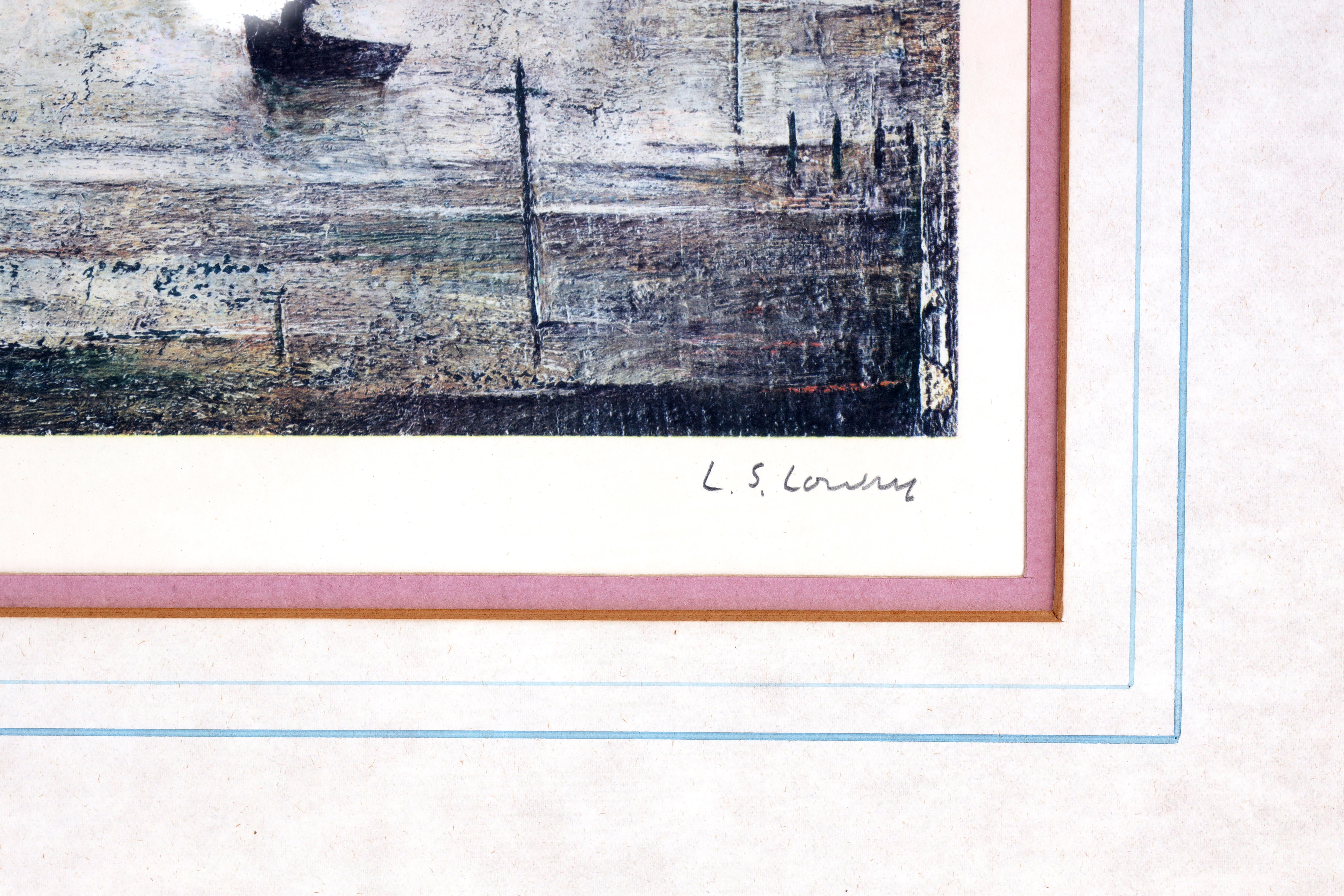 A.R.R. LAURENCE STEPHEN LOWRY (1887-1976) SIGNED PRINT 'SAILING BOATS' signed in pencil in the - Image 7 of 8