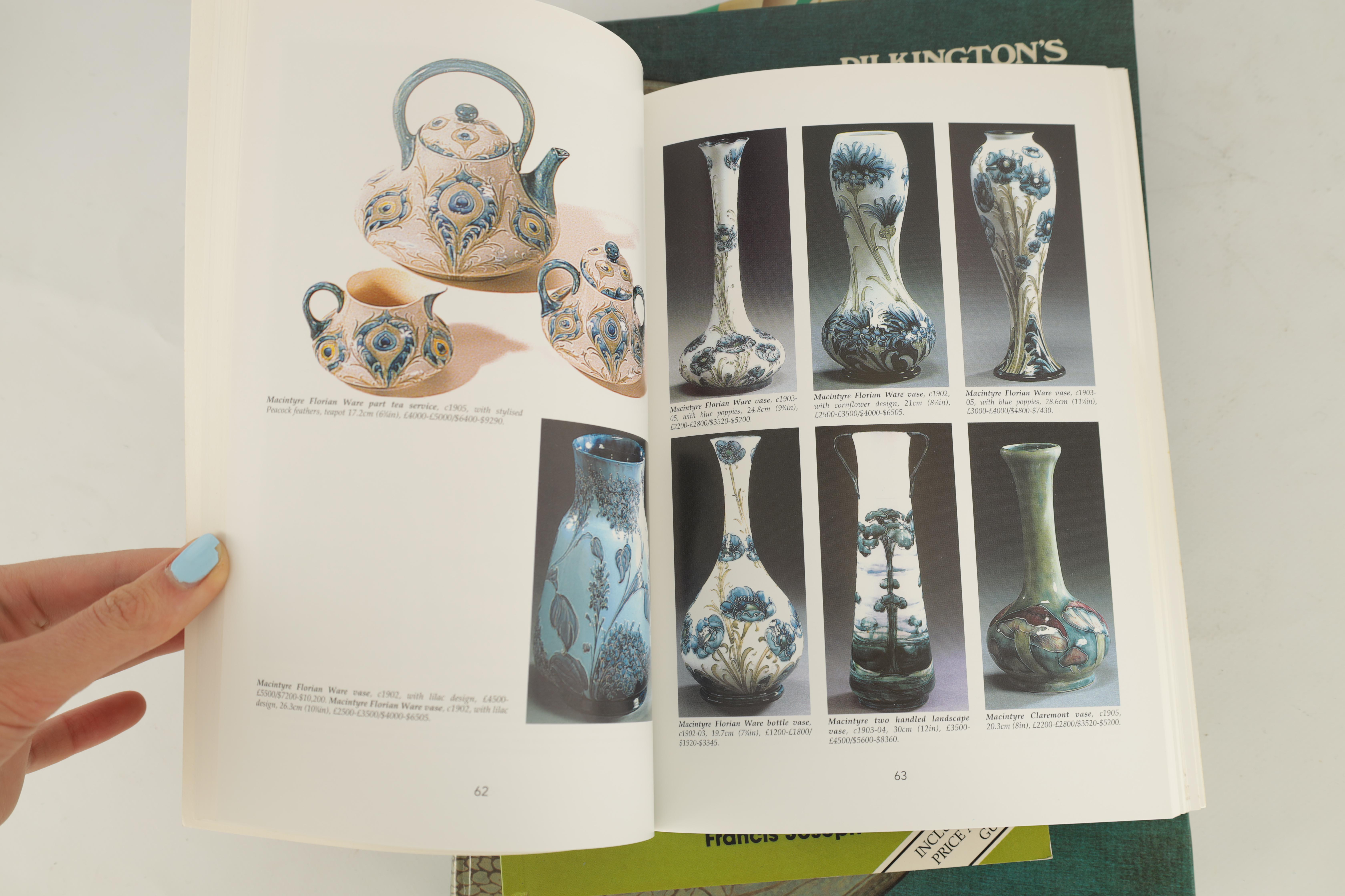 A COLLECTION OF EIGHT CERAMIC REFERENCE BOOKS including Poole pottery by Lesley Haward edited by - Image 5 of 9