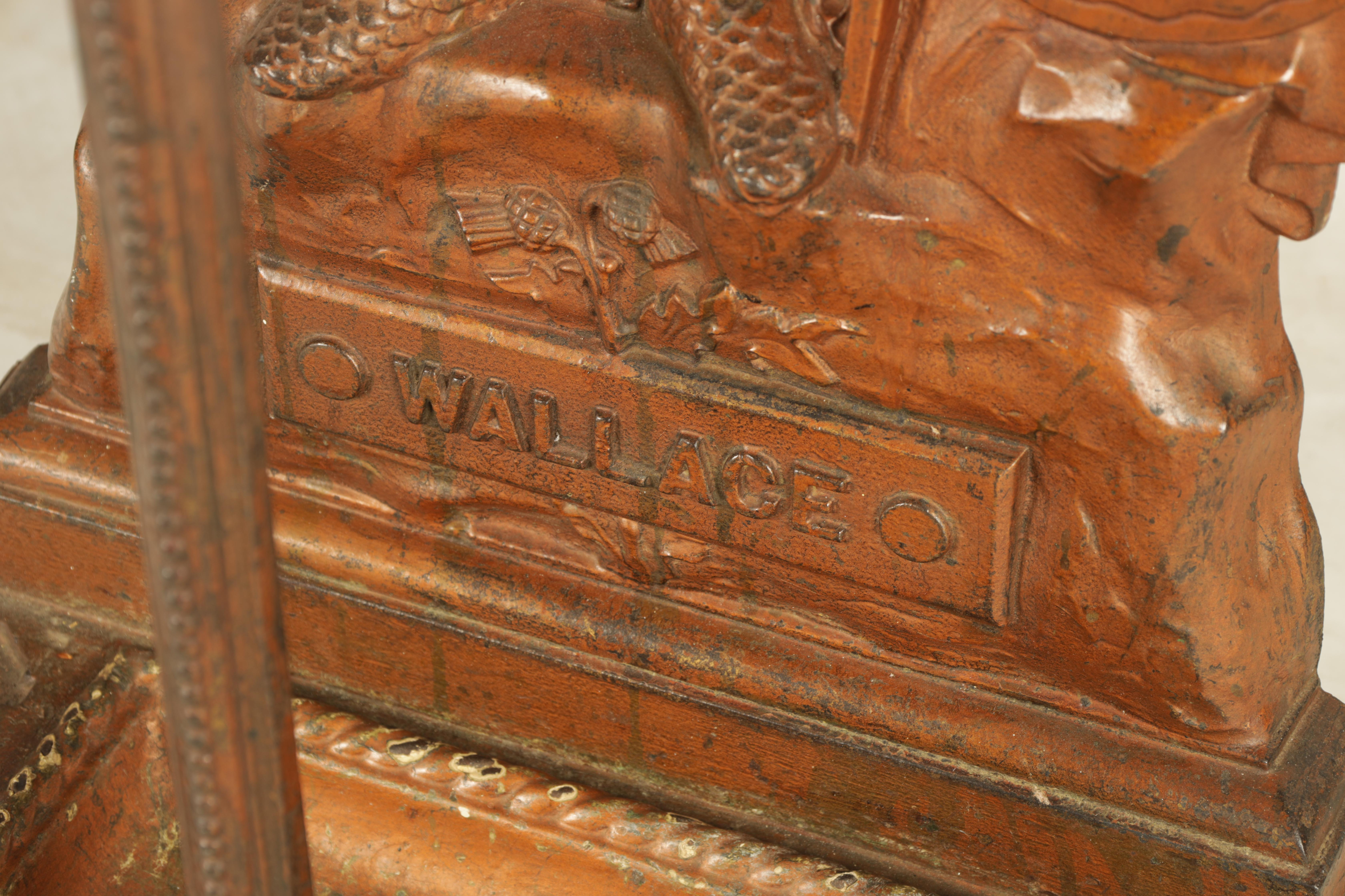 A LATE 19TH CENTURY PAINTED CAST IRON COALBROOKEDALE STYLE STICK STAND DEPICTING WILLIAM WALLACE - Image 4 of 5