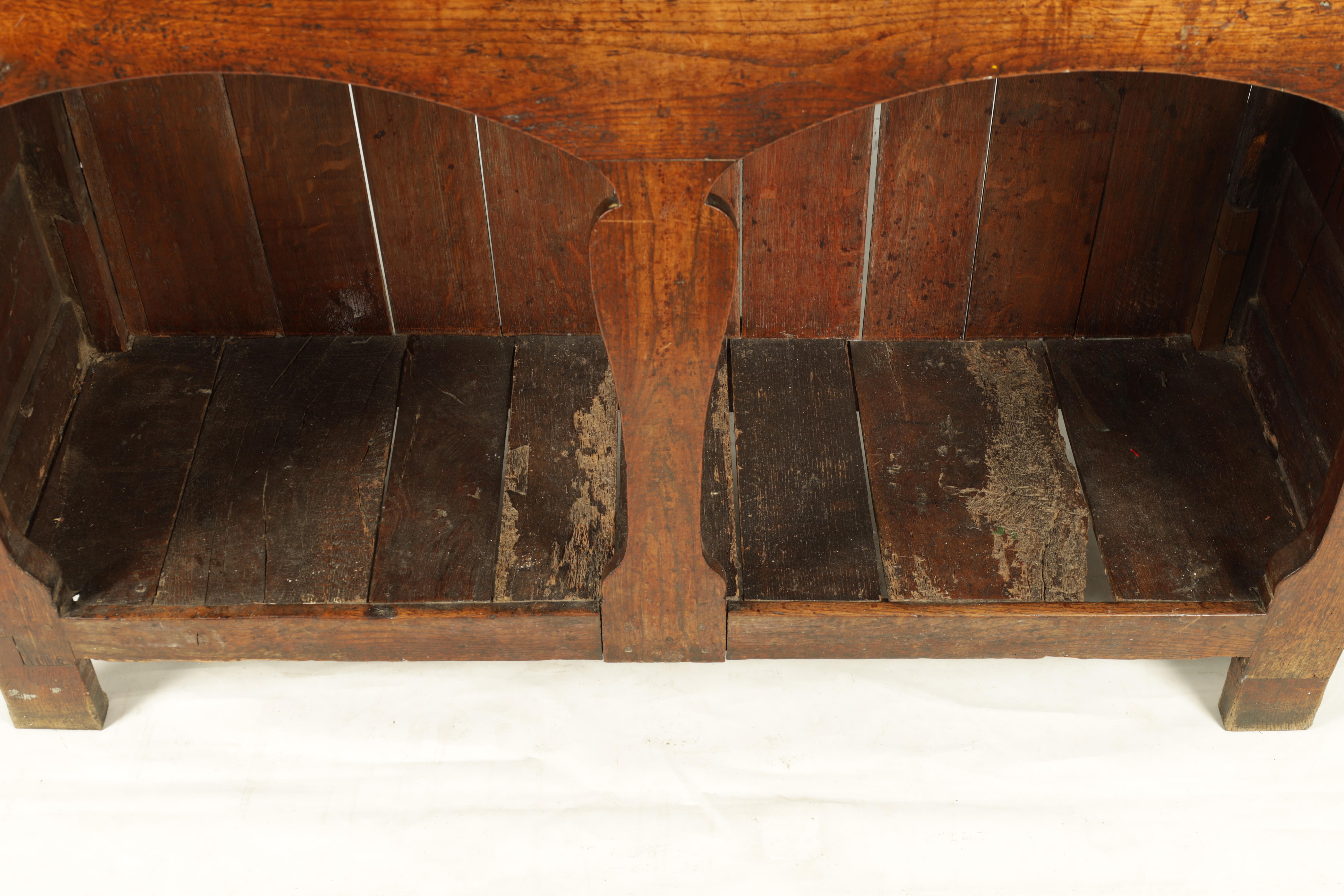 AN EARLY 18TH CENTURY SILHOUETTE LEG OAK DRESSER AND RACK with shaped moulded rack fitted two - Image 10 of 10