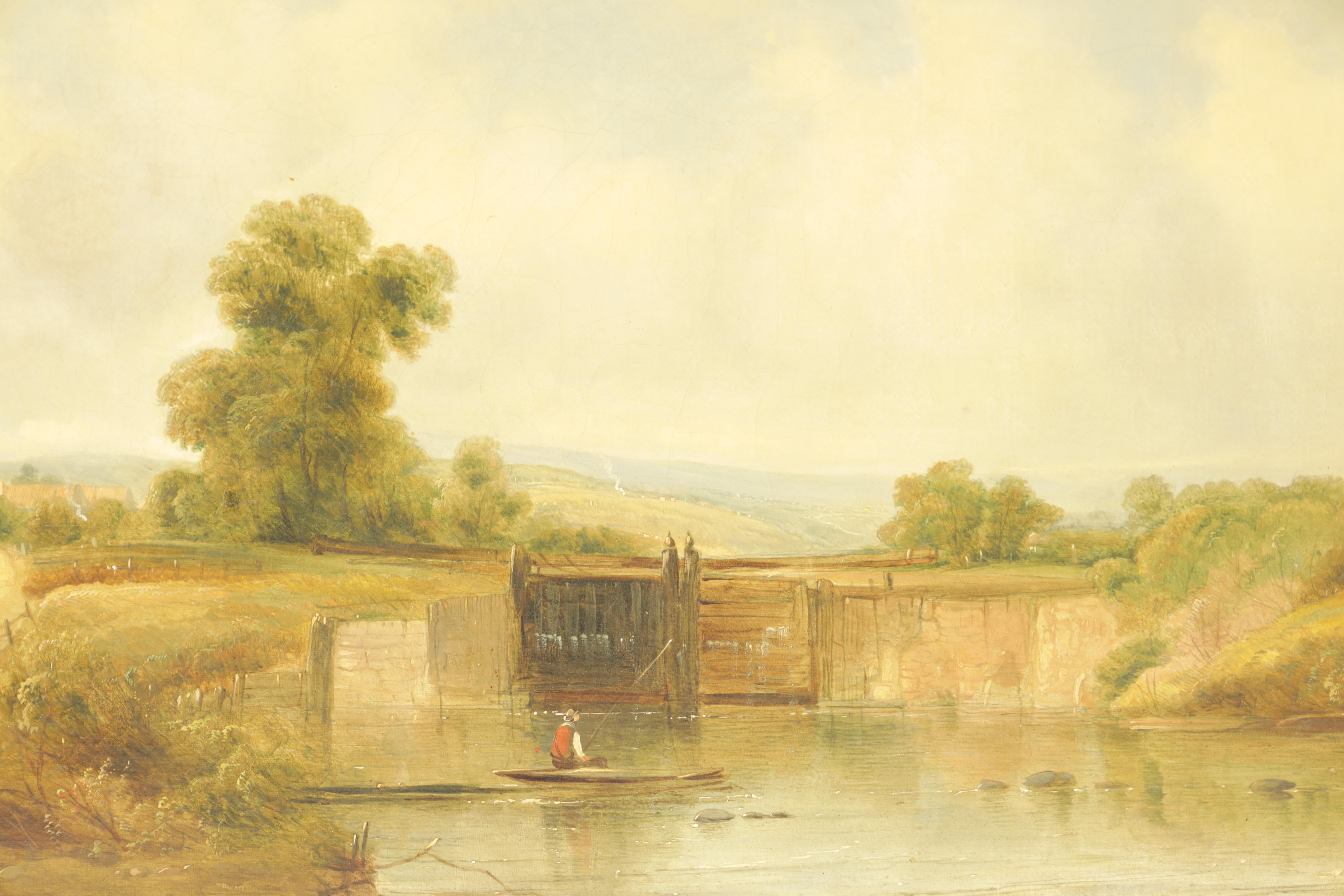 ALFRED H. VICKERS A PAIR OF MID 19TH CENTURY OILS ON CANVAS depicting river landscapes - signed - Image 2 of 8
