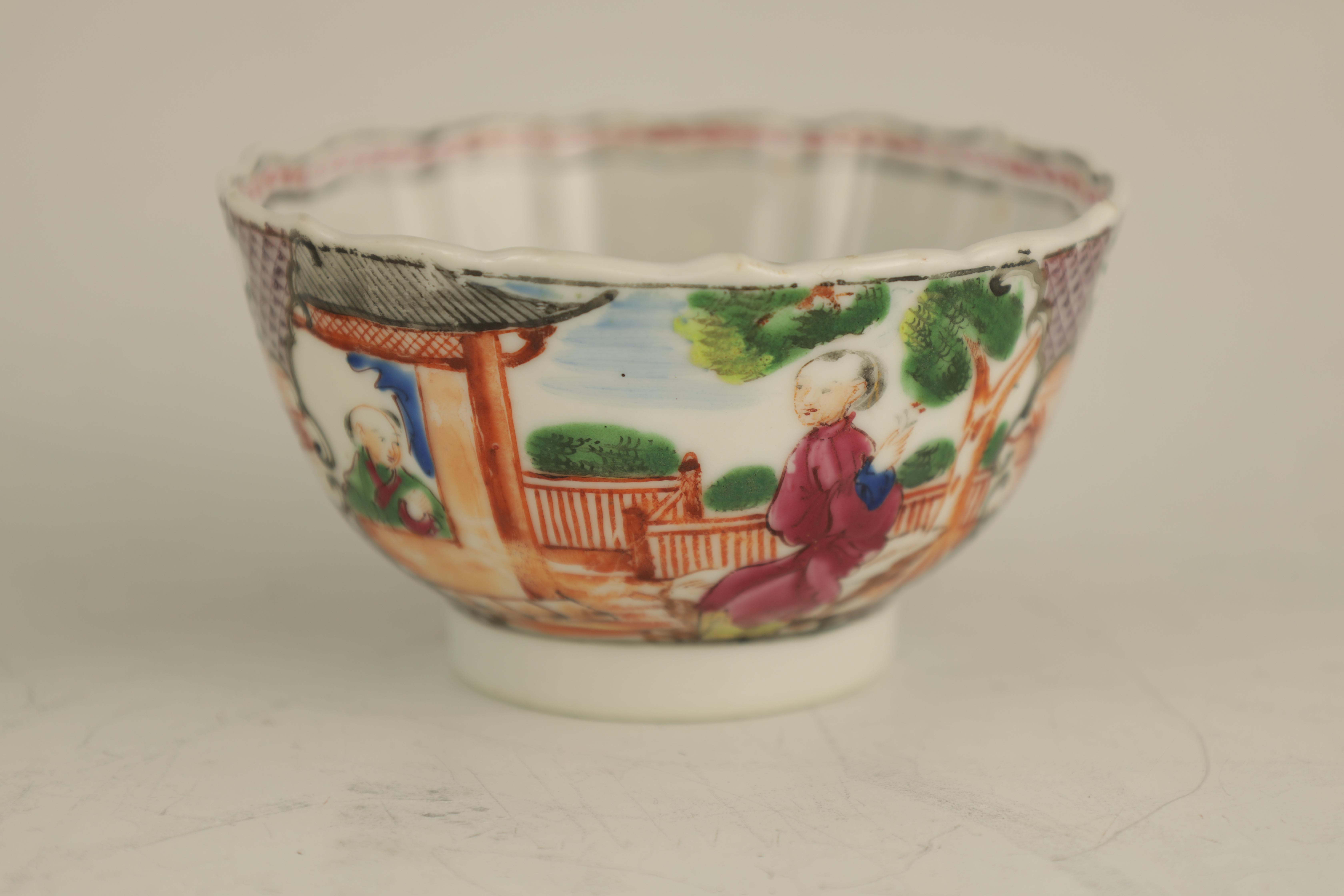 AN EARLY 19TH CENTURY NEW HALL PORCELAIN TEA CUP AND SAUCER decorated in 'The Boy in the Window' - Image 2 of 7