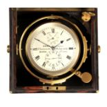 DENT, LONDON CHRONOMETER MAKER TO THE QUEEN No. 2382 A MID 19TH CENTURY TWO-DAY MARINE CHRONOMETER