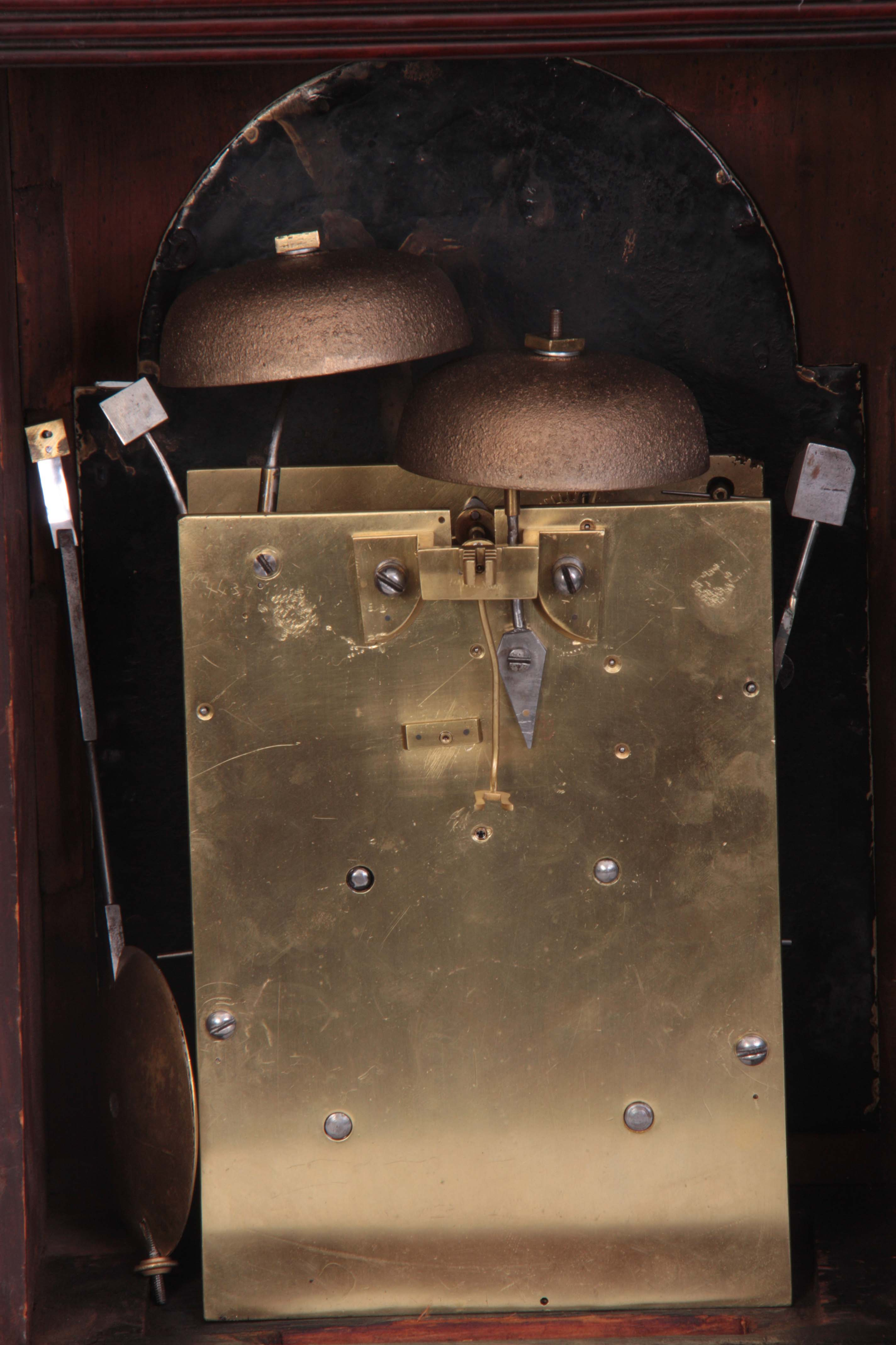 WILLIAM JACKSON, FRODSHAM A GEORGE III PAINTED DIAL MAHOGANY BRACKET CLOCK the case with moulded - Image 5 of 7