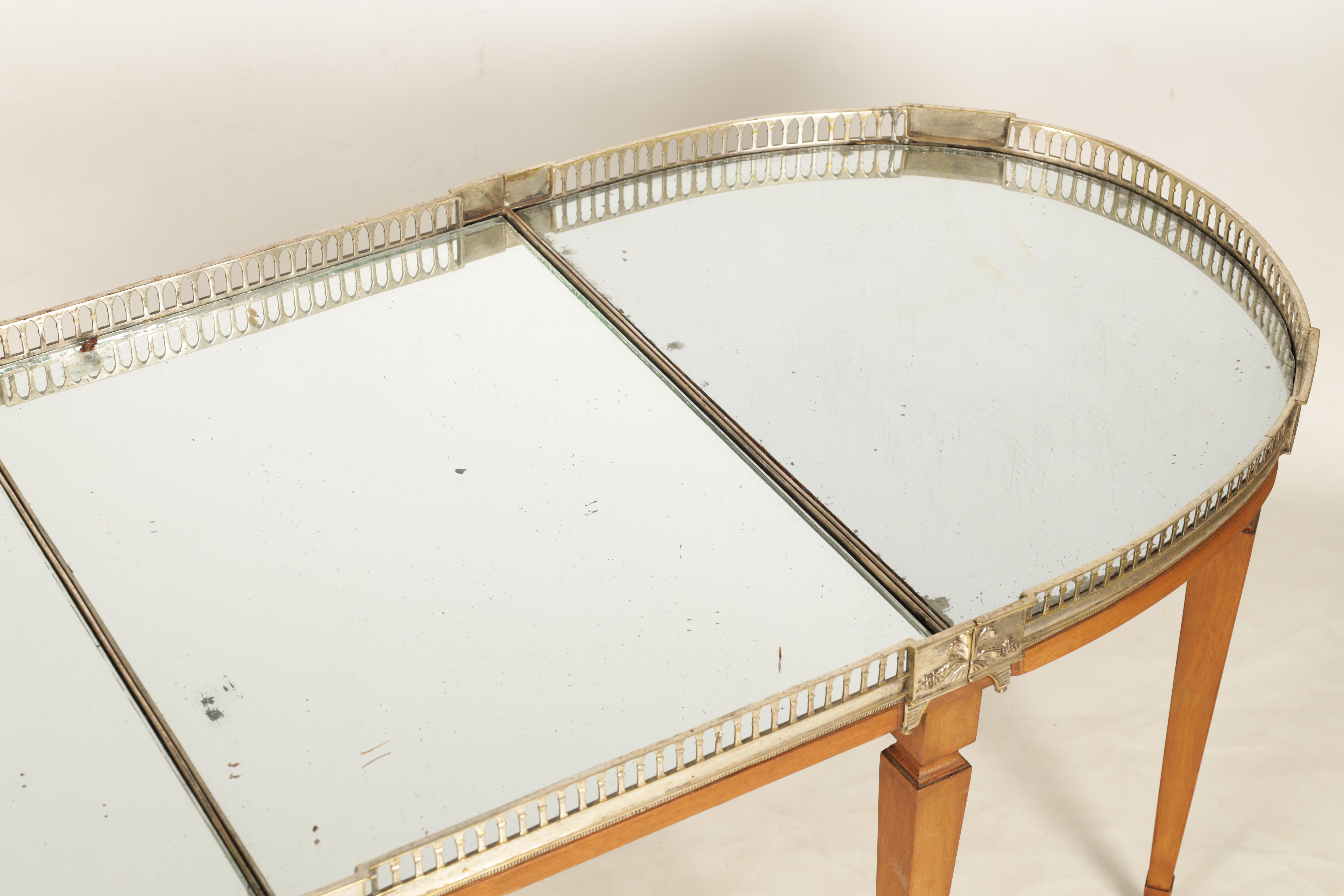 A 19TH CENTURY SILVERED BRONZE TABLE CENTREPIECE FOUR SECTIONAL TRAY with pierced gallery and - Image 4 of 5