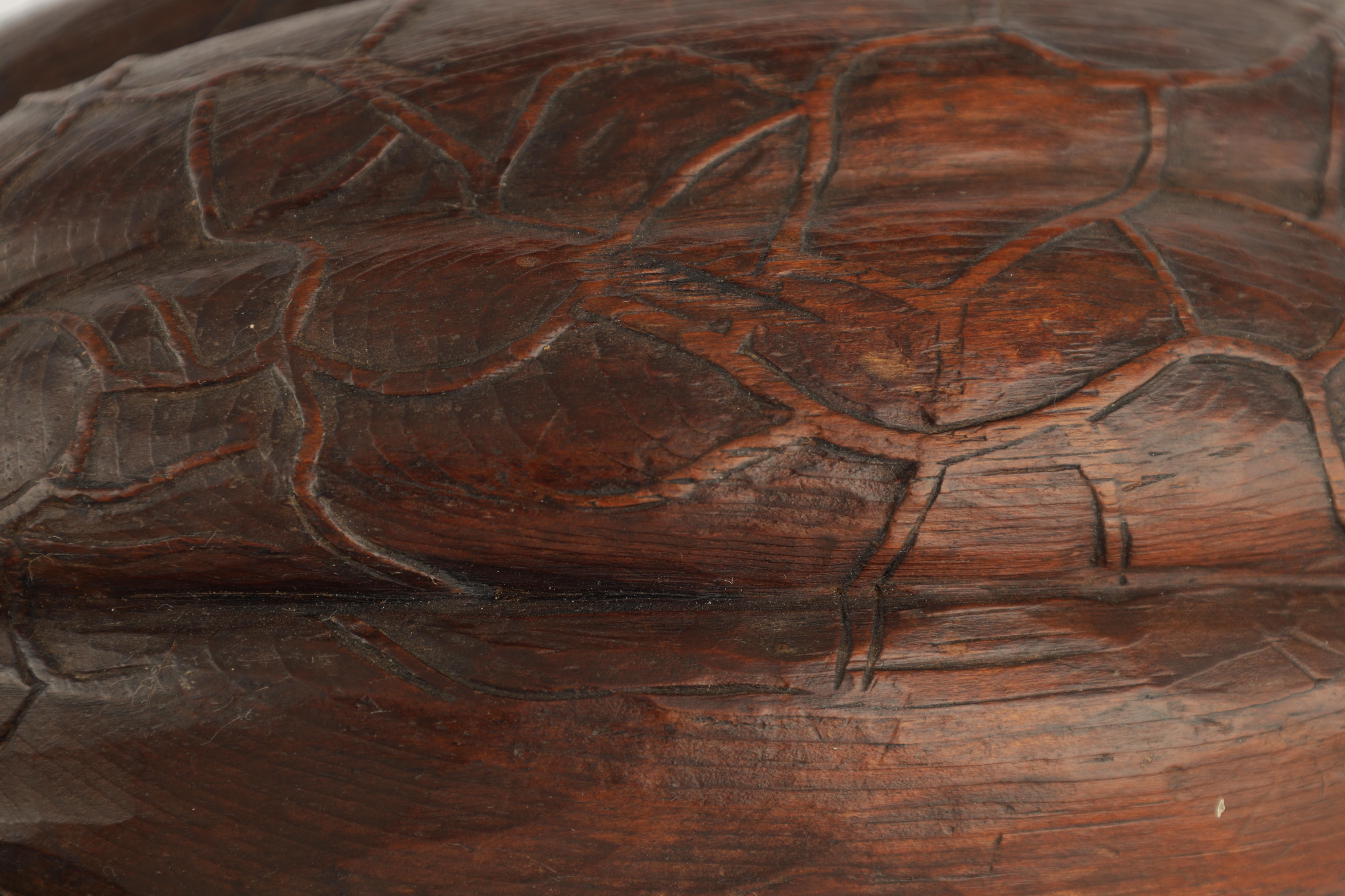 A 19TH CENTURY CARVED OAK SCULPTURE modelled as a pumpkin on a naturalistic base 23.5cm wide, 13cm - Image 4 of 7