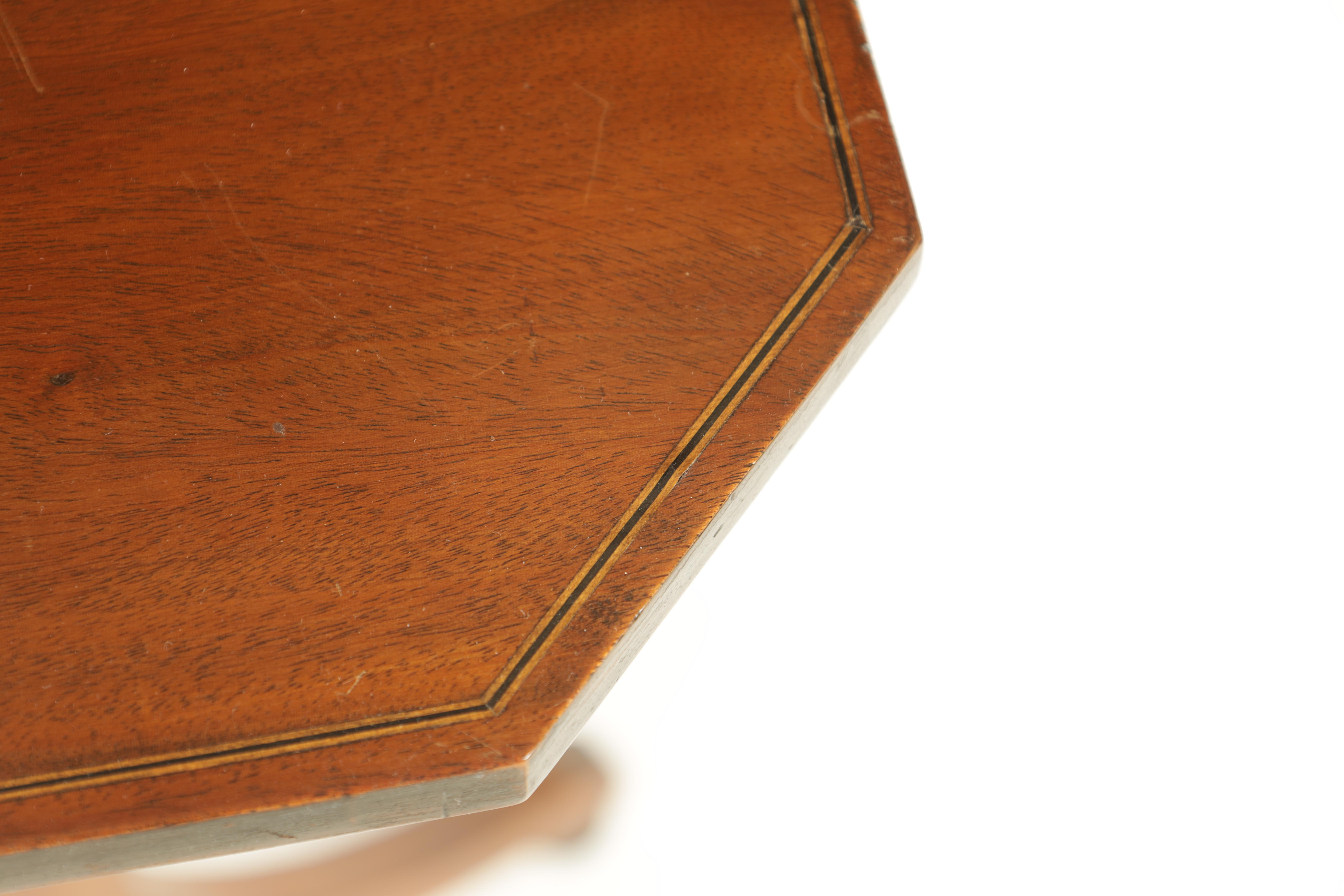 A REGENCY MAHOGANY ADJUSTABLE OCCASIONAL/READING TABLE with clipped corners and tilting top, - Image 4 of 9