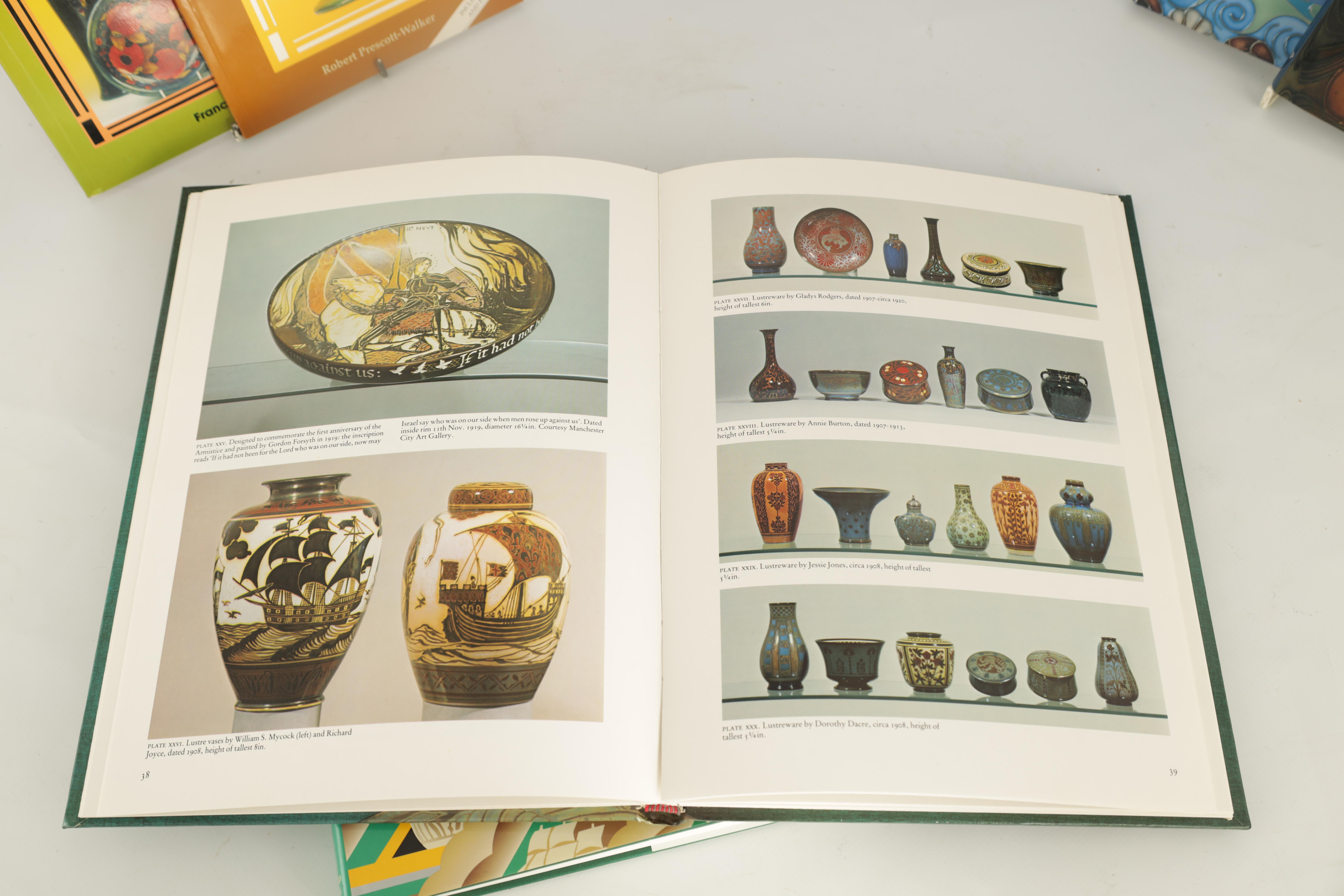 A COLLECTION OF EIGHT CERAMIC REFERENCE BOOKS including Poole pottery by Lesley Haward edited by - Image 3 of 9