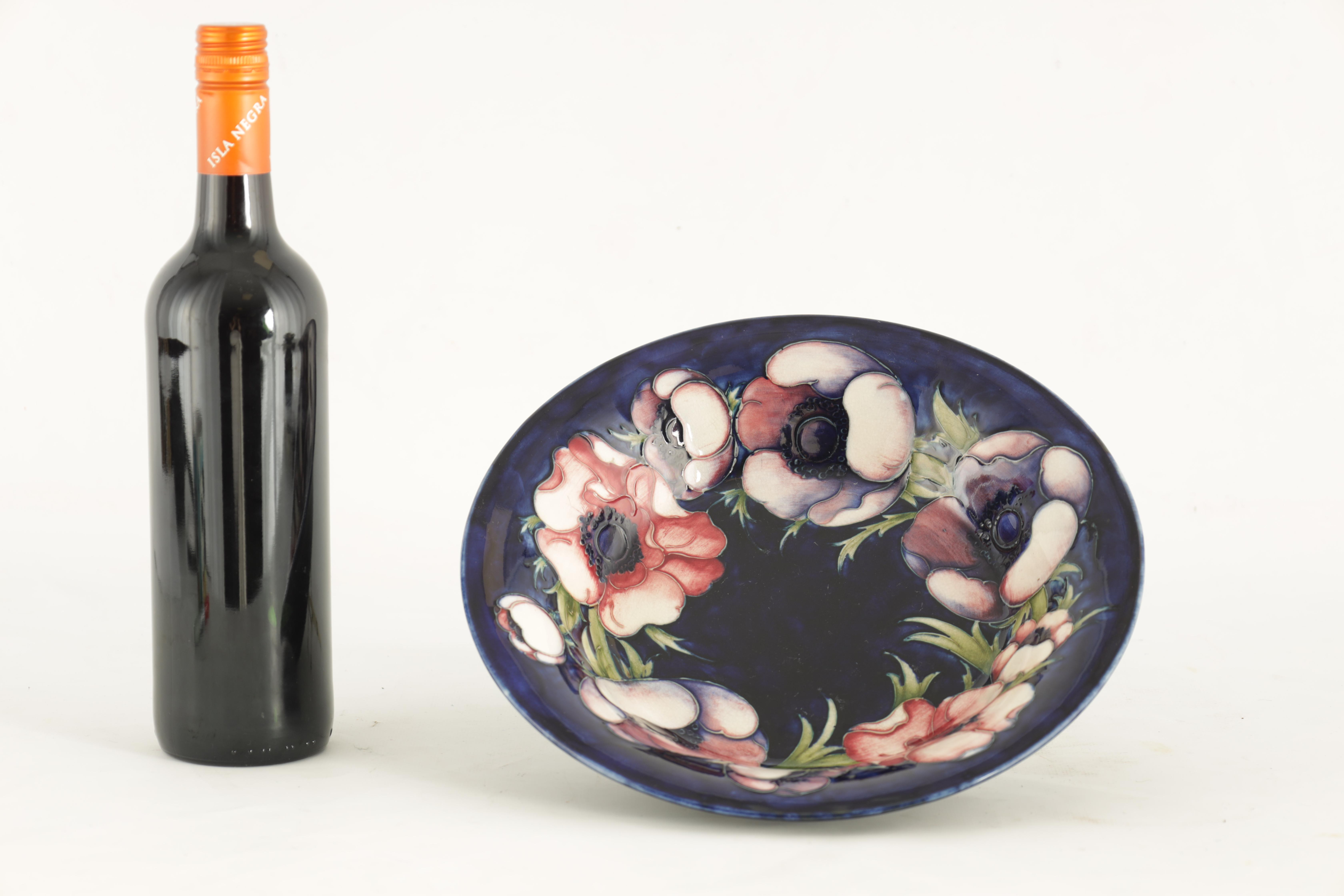 A 1930S MOORCROFT LARGE SHALLOW BOWL WITH EVERTED RIM tube lined and decorated with a band of - Image 2 of 5
