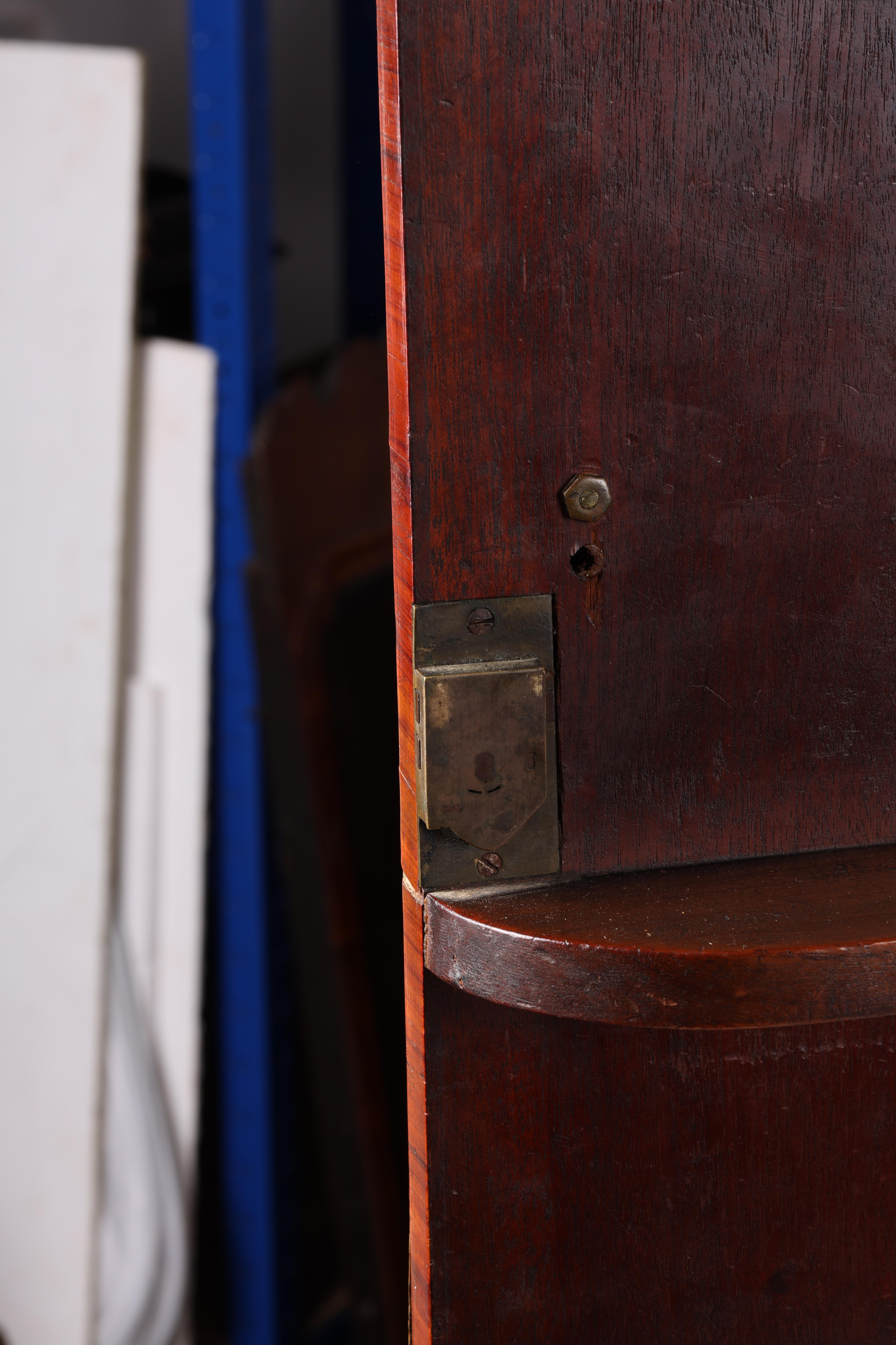 A LARGE PAIR OF GEORGE III KINGWOOD BANDED MAHOGANY PEDESTALS with unusual pen work panels depicting - Image 9 of 11