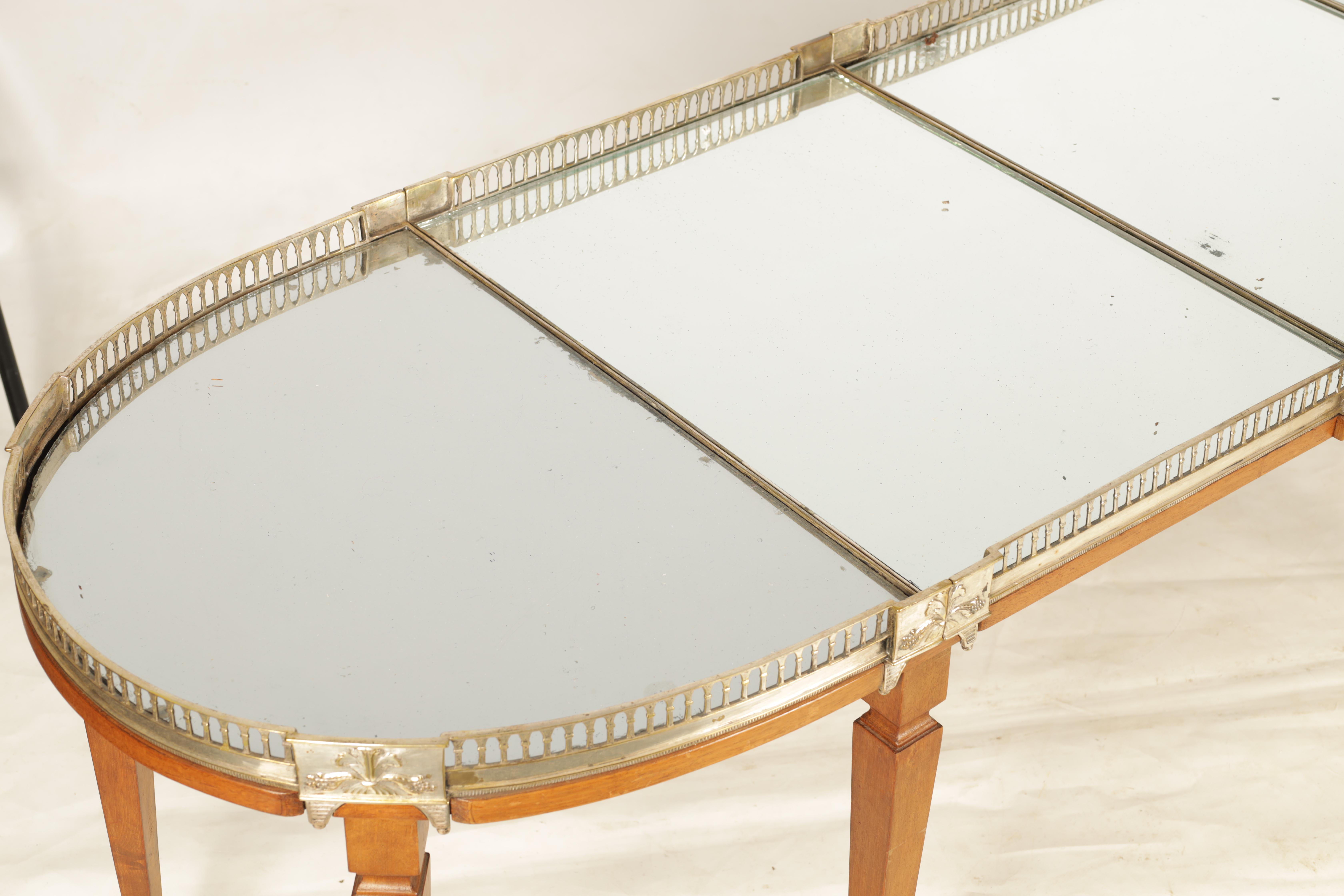 A 19TH CENTURY SILVERED BRONZE TABLE CENTREPIECE FOUR SECTIONAL TRAY with pierced gallery and - Image 3 of 5