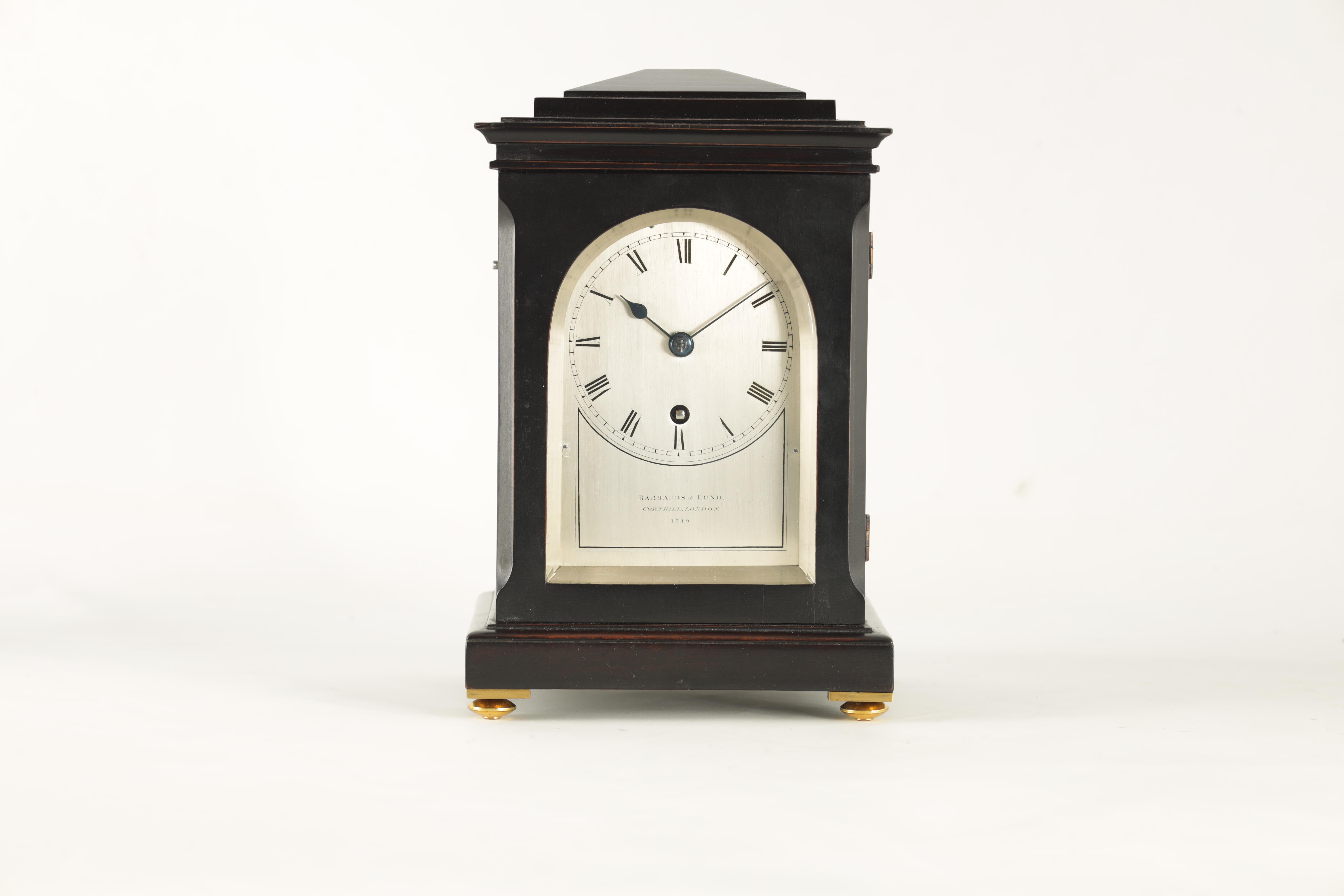 BARRAUDS & LUND, CORNHILL, LONDON. 1549 A FINE EARLY 19TH CENTURY REGENCY EBONISED ENGLISH FUSEE - Image 3 of 8