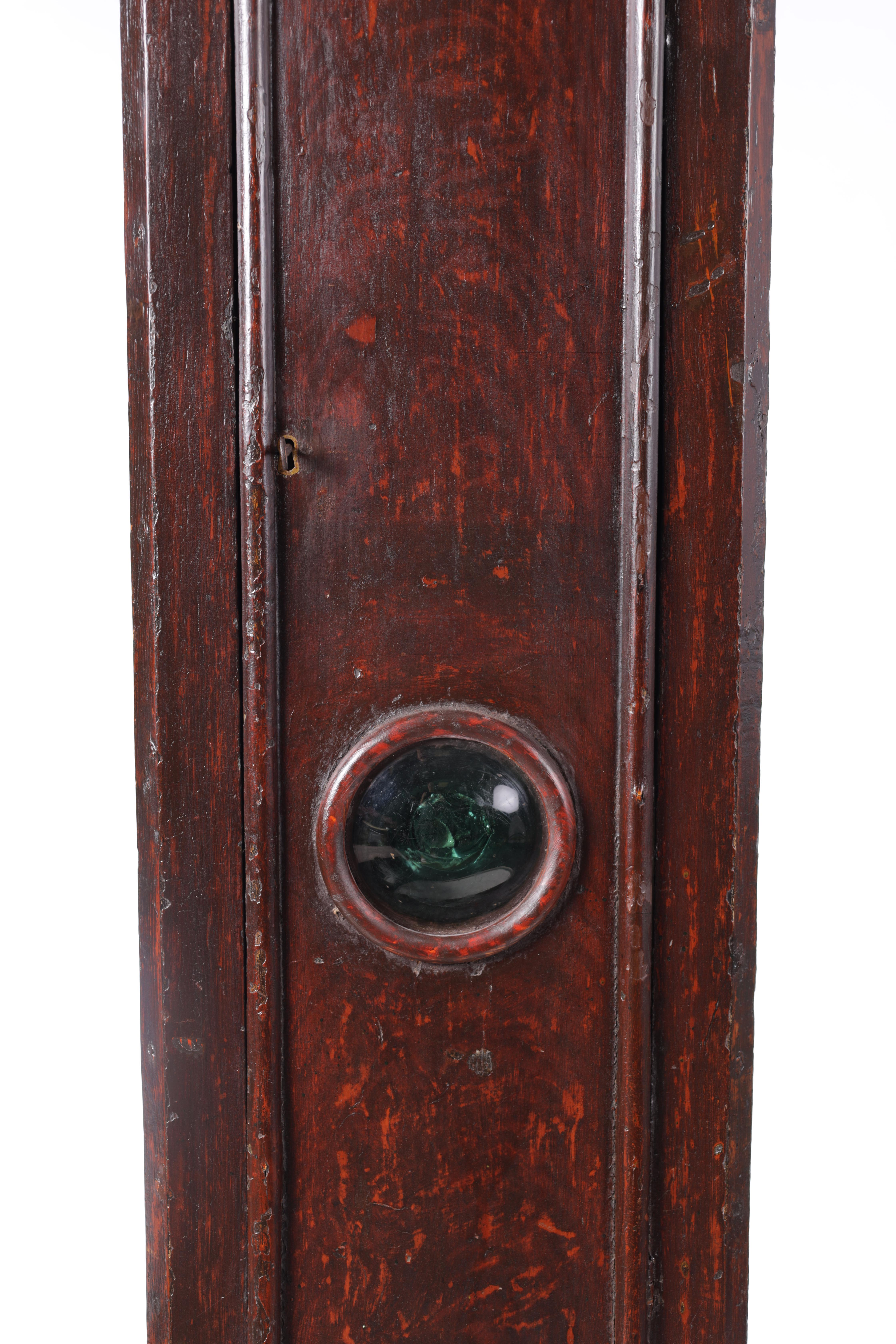 """THOMAS TALBOT, NAMPTWICH (NANTWICH) AN EARLY 18TH CENTURY 11"""" BRASS EIGHT-DAY LONGCASE CLOCK in a - Image 4 of 5"""