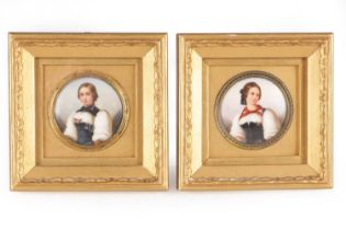 A PAIR OF LATE 19TH CENTURY CONTINENTAL PORCELAIN PAINTED PLAQUES