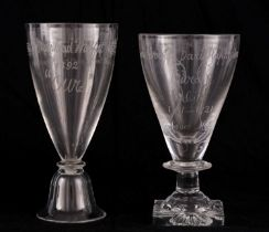 TWO 19TH CENTURY WINE GLASSES