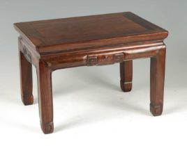 AN 18TH CENTURY CHINESE HARDWOOD STOOL / SMALL OCCASIONAL TABLE