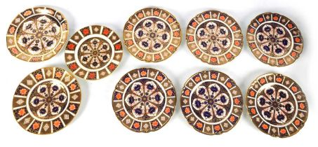 A SELECTION OF NINE 20TH CENTURY CROWN DERBY PLATES