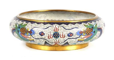 A CHINESE CLOISONNE AND GILT BRONZE BOWL