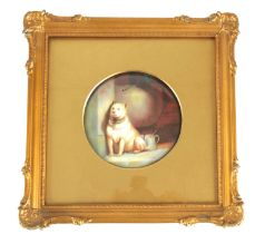 AN EARLY 20TH CENTURY PARAGON CHINA PORCELAIN PLAQUE PAINTED BY F. MICKLEWRIGHT