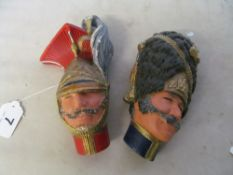 Two Bossons wall masks military