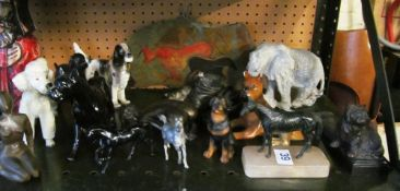 Various animal ornaments etc