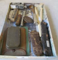 Two pairs Victorian spectacles, bullet case and other interesting items