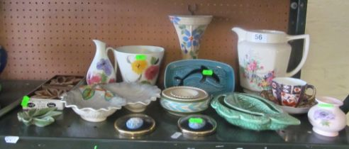 A Royal Crown Derby cup and saucer, Radford and other china
