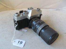 A Mamiya camera with Schneider lens