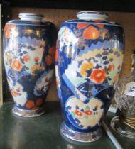 A pair of modern Imari vases