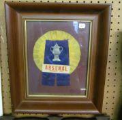 An Arsenal FA Cup 1971 rosette, framed