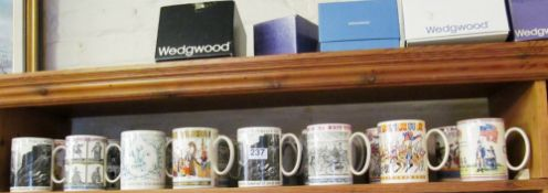 A selection of Wedgwood tankards