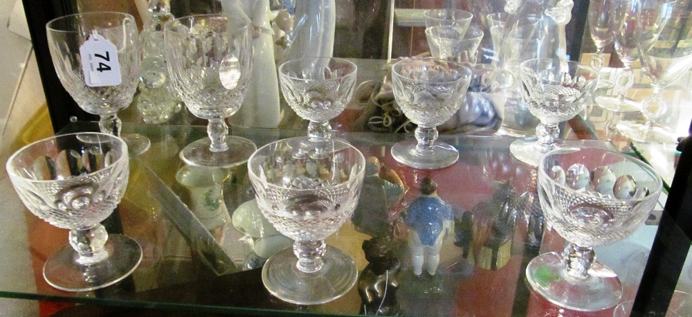 Six Waterford glasses and two larger wines - Image 2 of 3