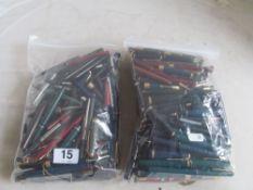 A large quantity of Parker pens, pencils and parts