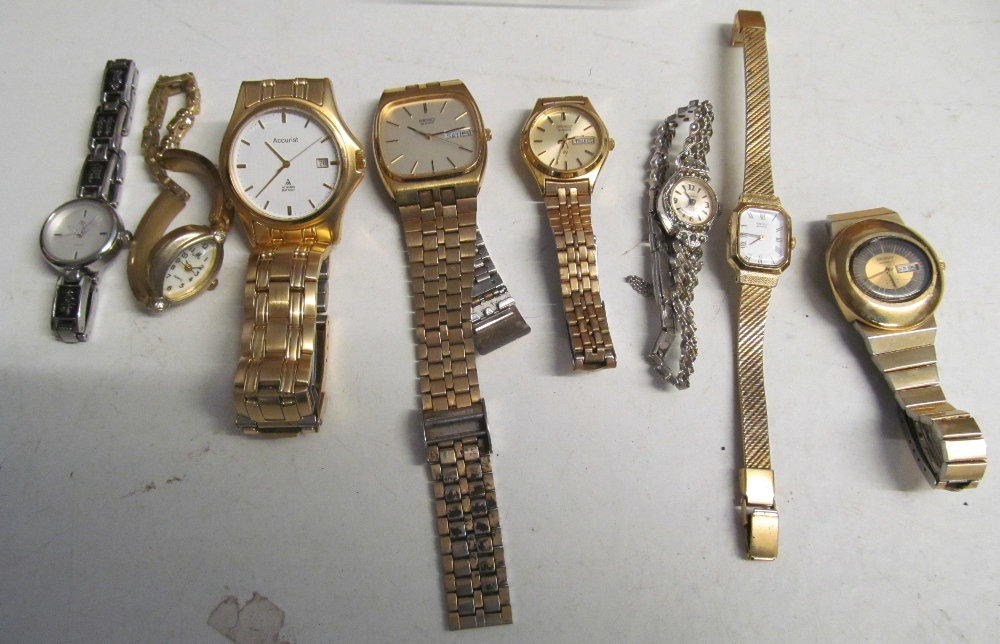 A gents Accurist watch, Seiko and other watches (8)